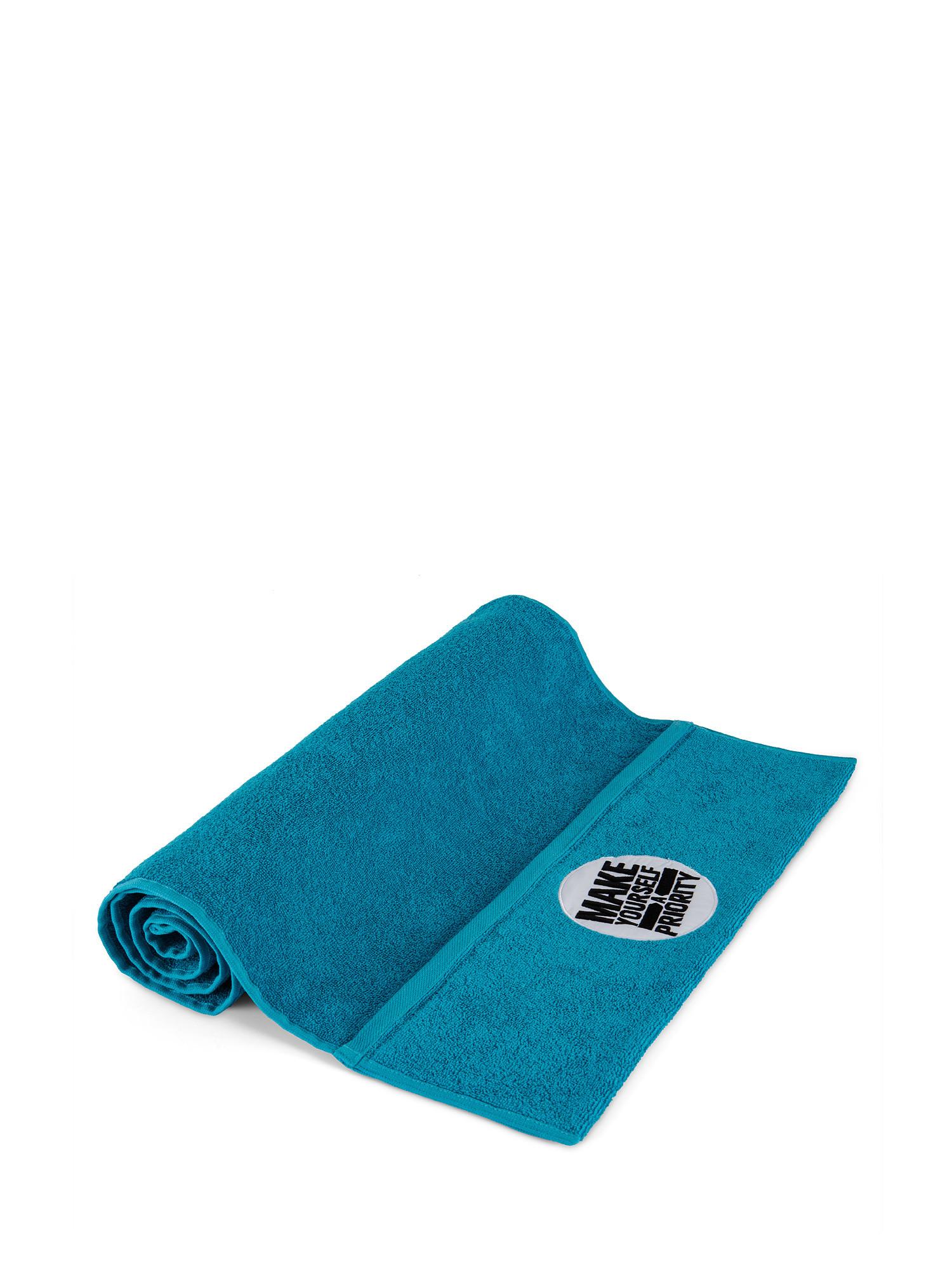Asciugamano da palestra e fitness, Azzurro, large image number 0
