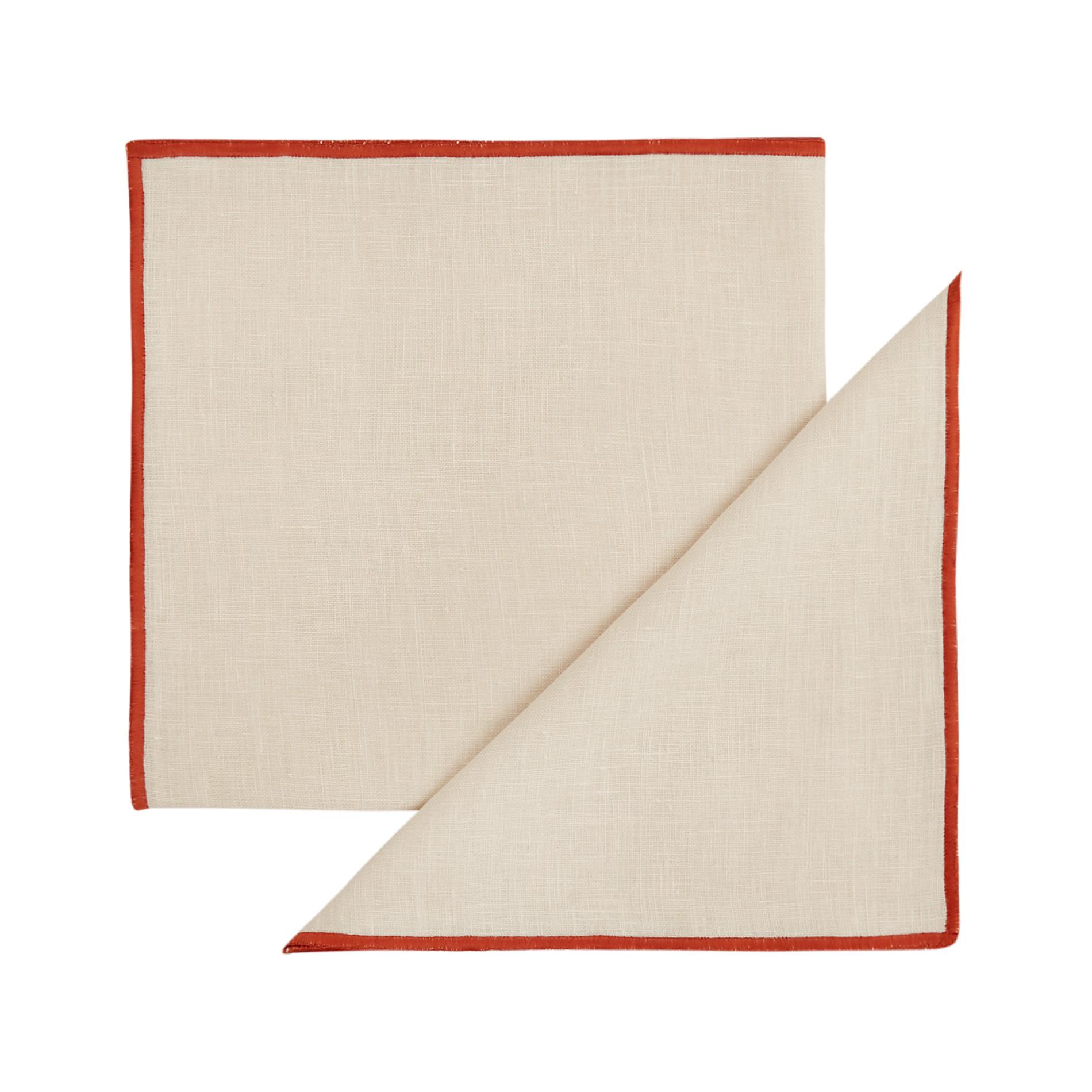 Set 2 tovaglioli puro lino, Bianco, large image number 0