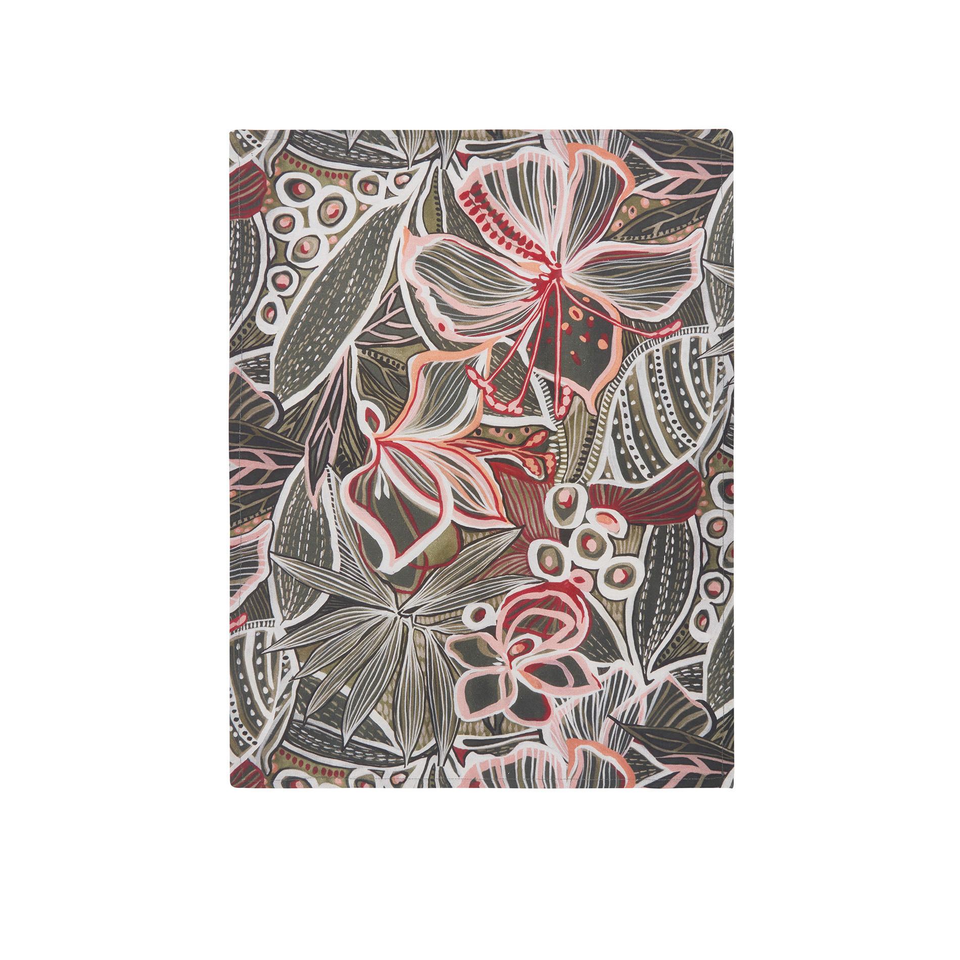 Set 2 strofinacci puro cotone stampa amazzonia, Verde scuro, large image number 1