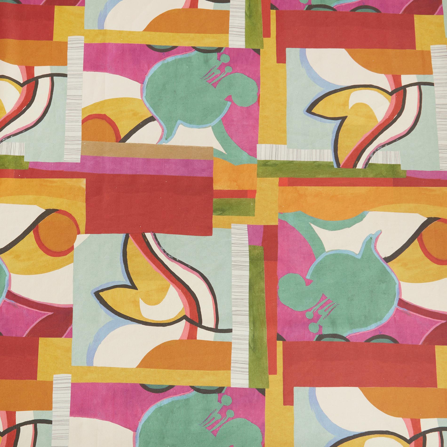 Tovaglia puro cotone stampa astratta, Multicolor, large image number 1