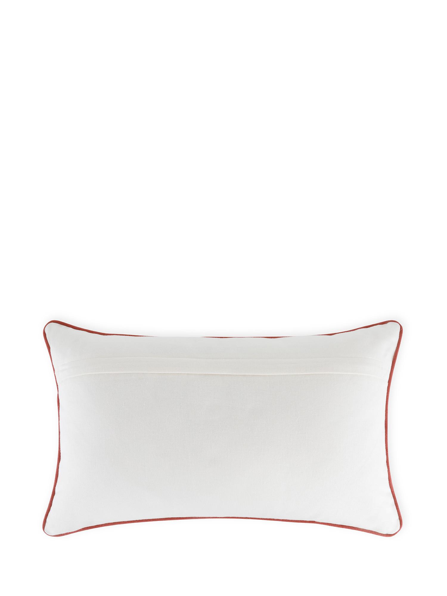 Cuscino cotone ricamo campanelle 45x45cm, Multicolor, large image number 2