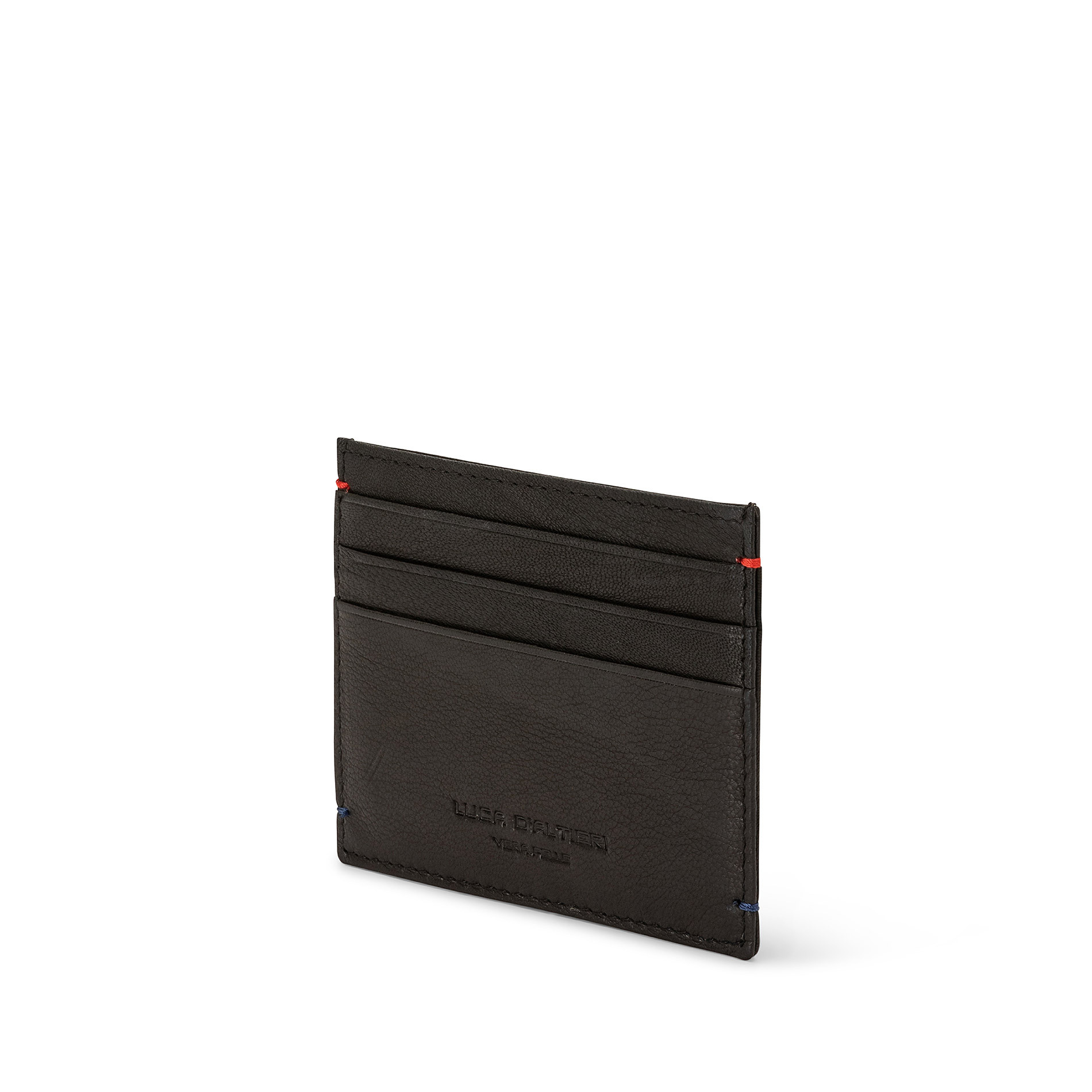 Porta carte di credito in pelle Luca D'Altieri, Nero, large image number 1
