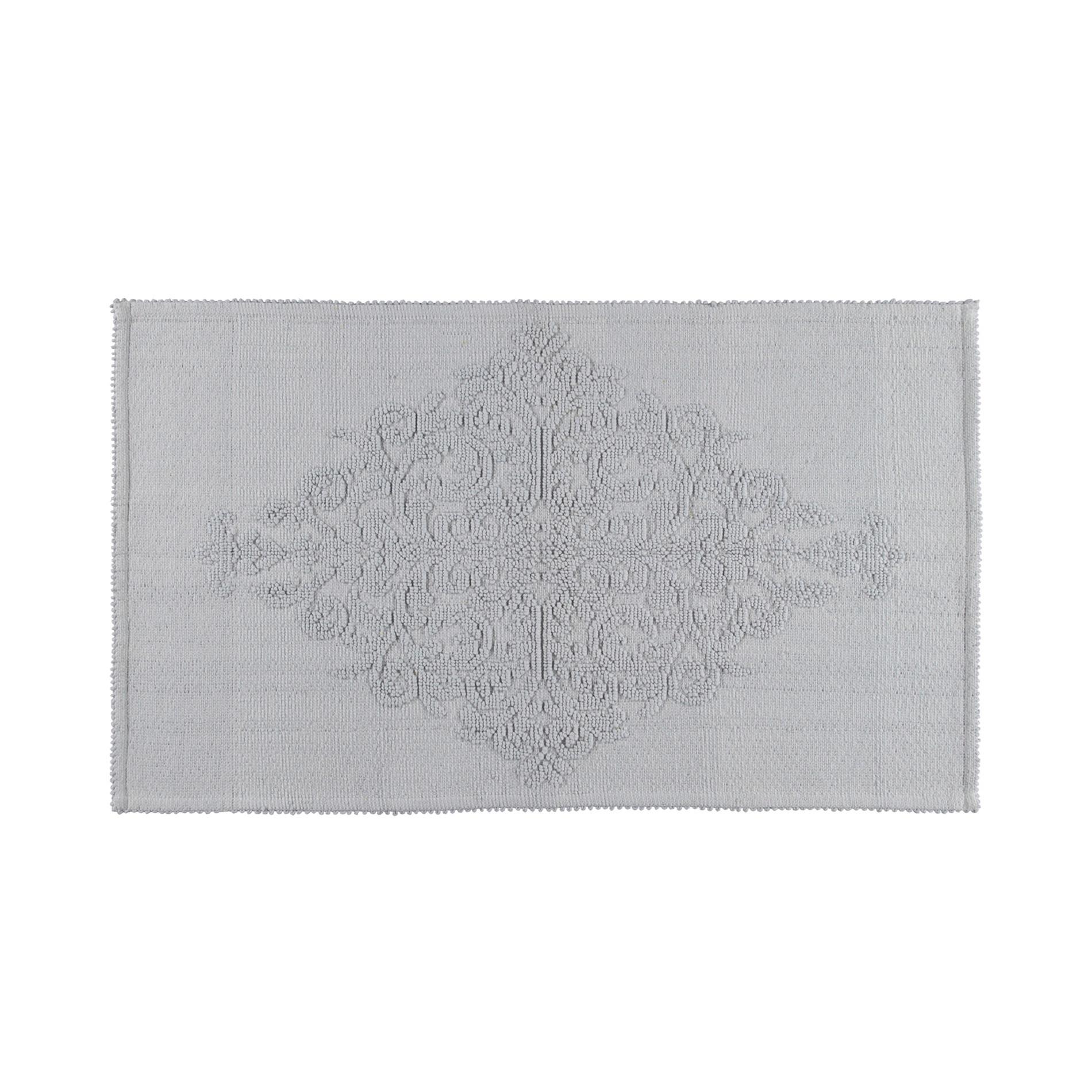 Tappeto bagno con decorazione a rilievo, Grigio, large image number 0