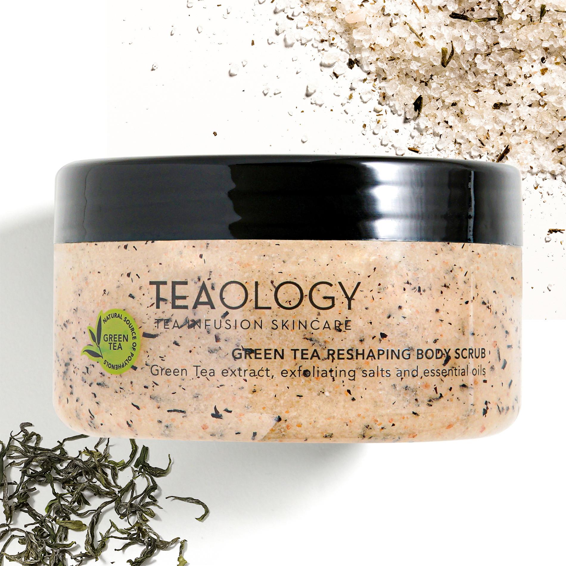 Green Tea  Body Scrub Rimodellante 450 gr, Bianco, large image number 1
