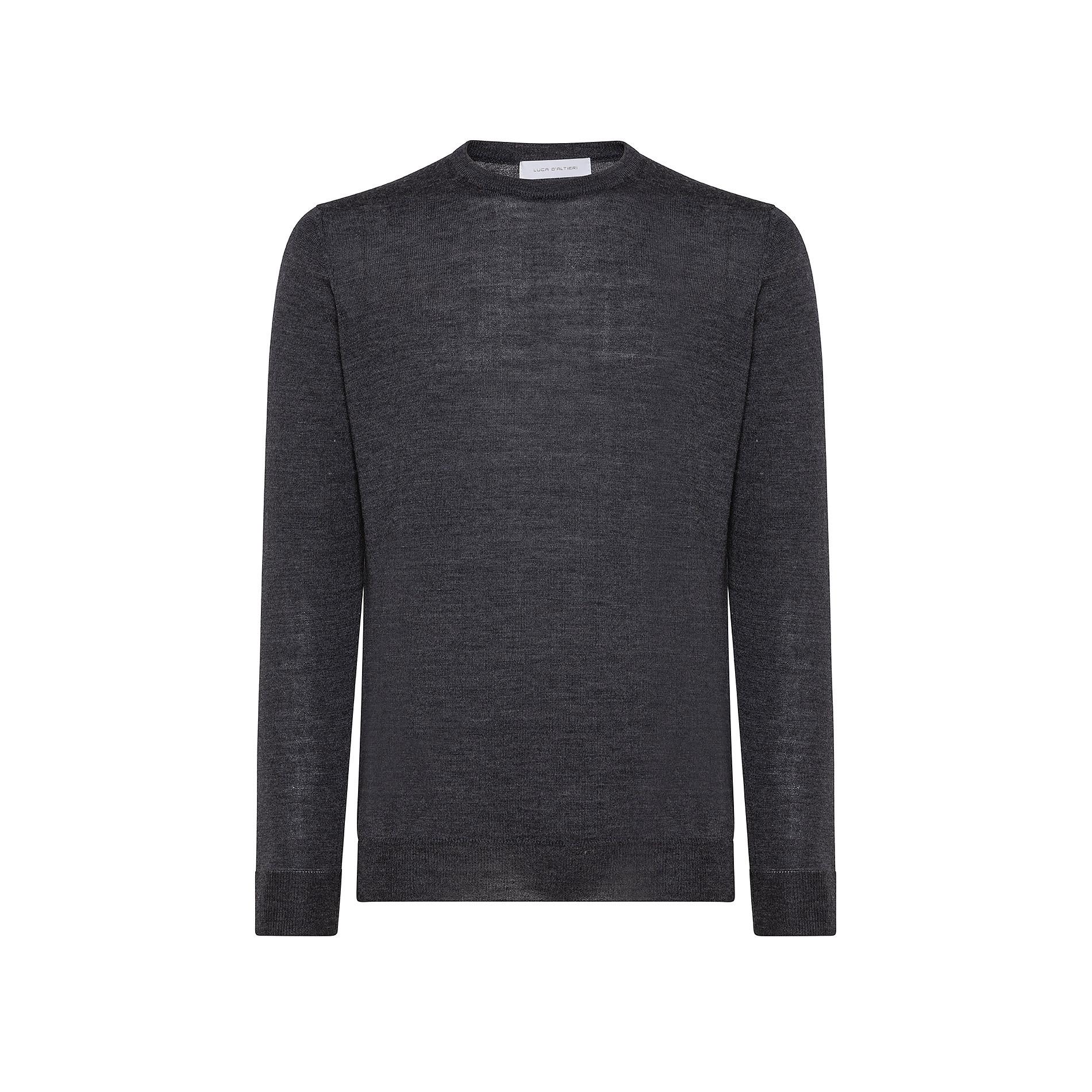 Pullover girocollo lana merinos extrafine, Grigio chiaro, large image number 0