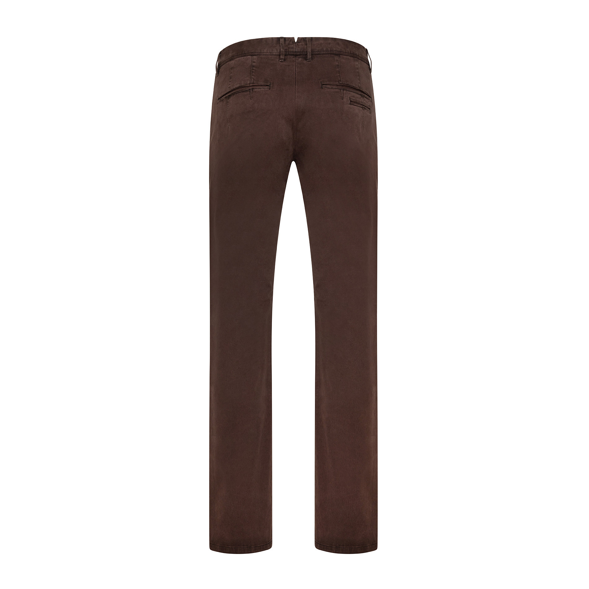 Pantaloni chino in tessuto stretch, Marrone, large image number 1