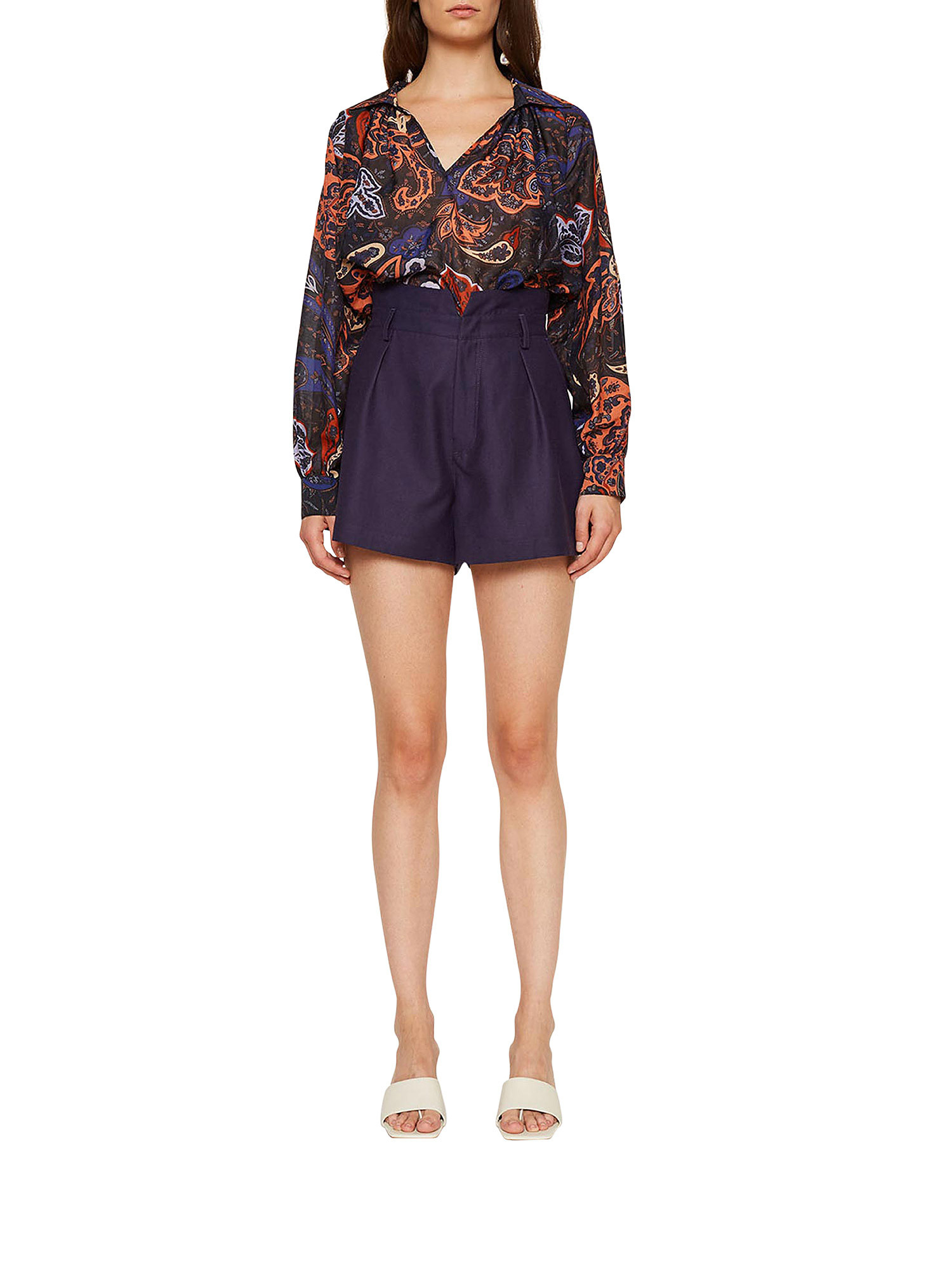 Shorts in shantung Ginger, Viola lilla, large image number 1