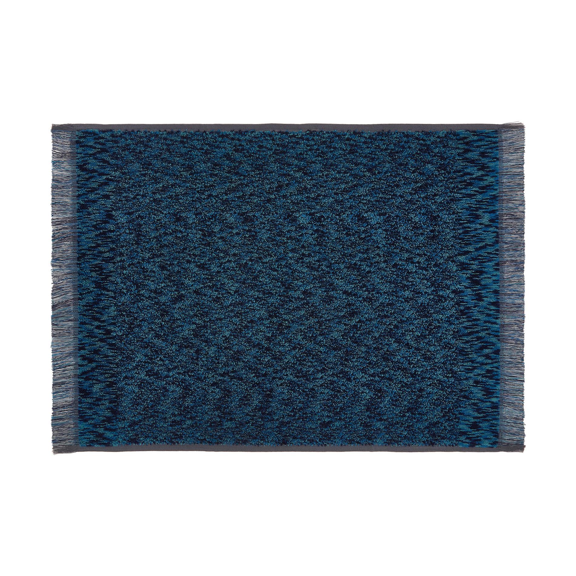 Asciugamano spugna di cotone effetto melange, Blu, large image number 1