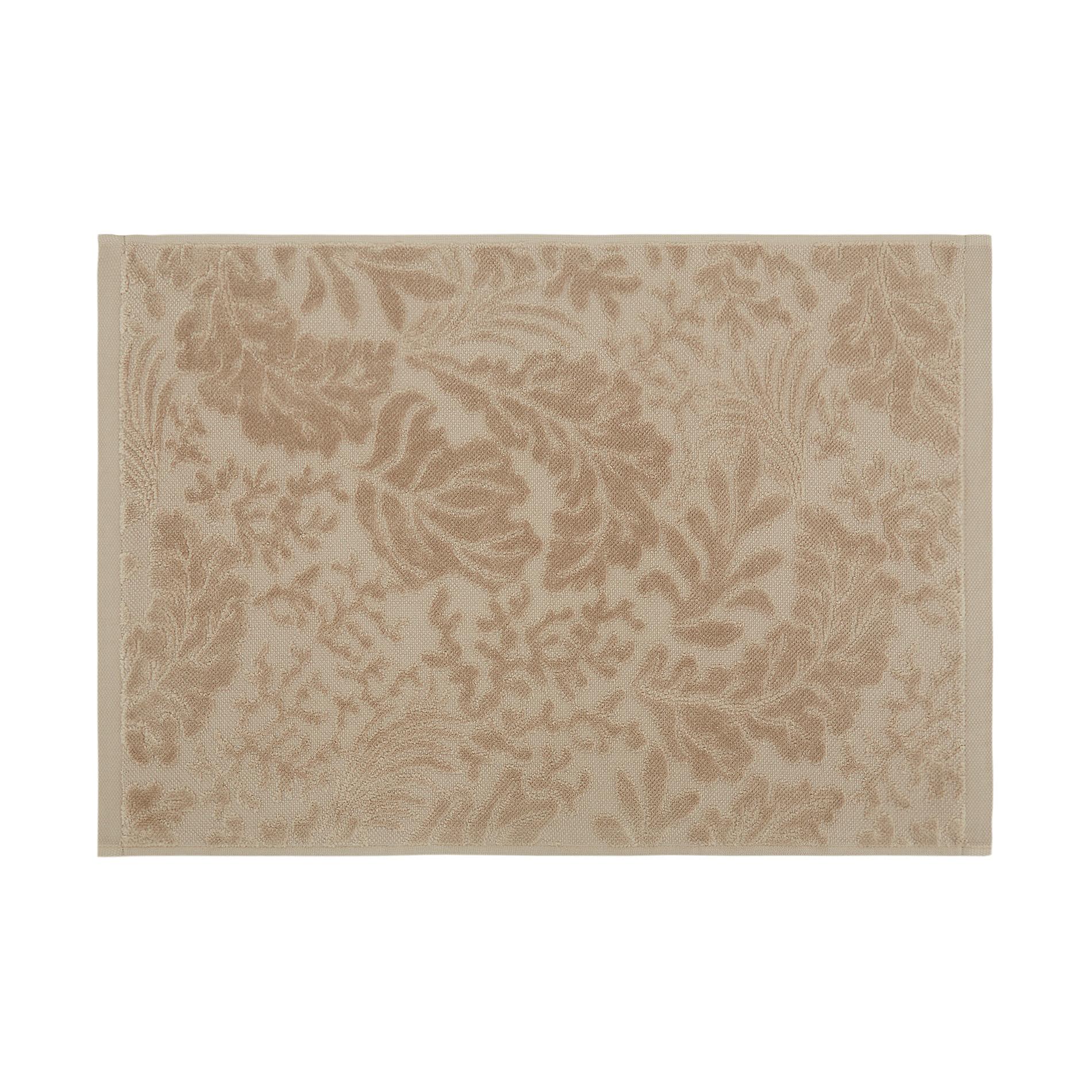 Asciugamano cotone velour motivo coralli, Beige, large image number 1