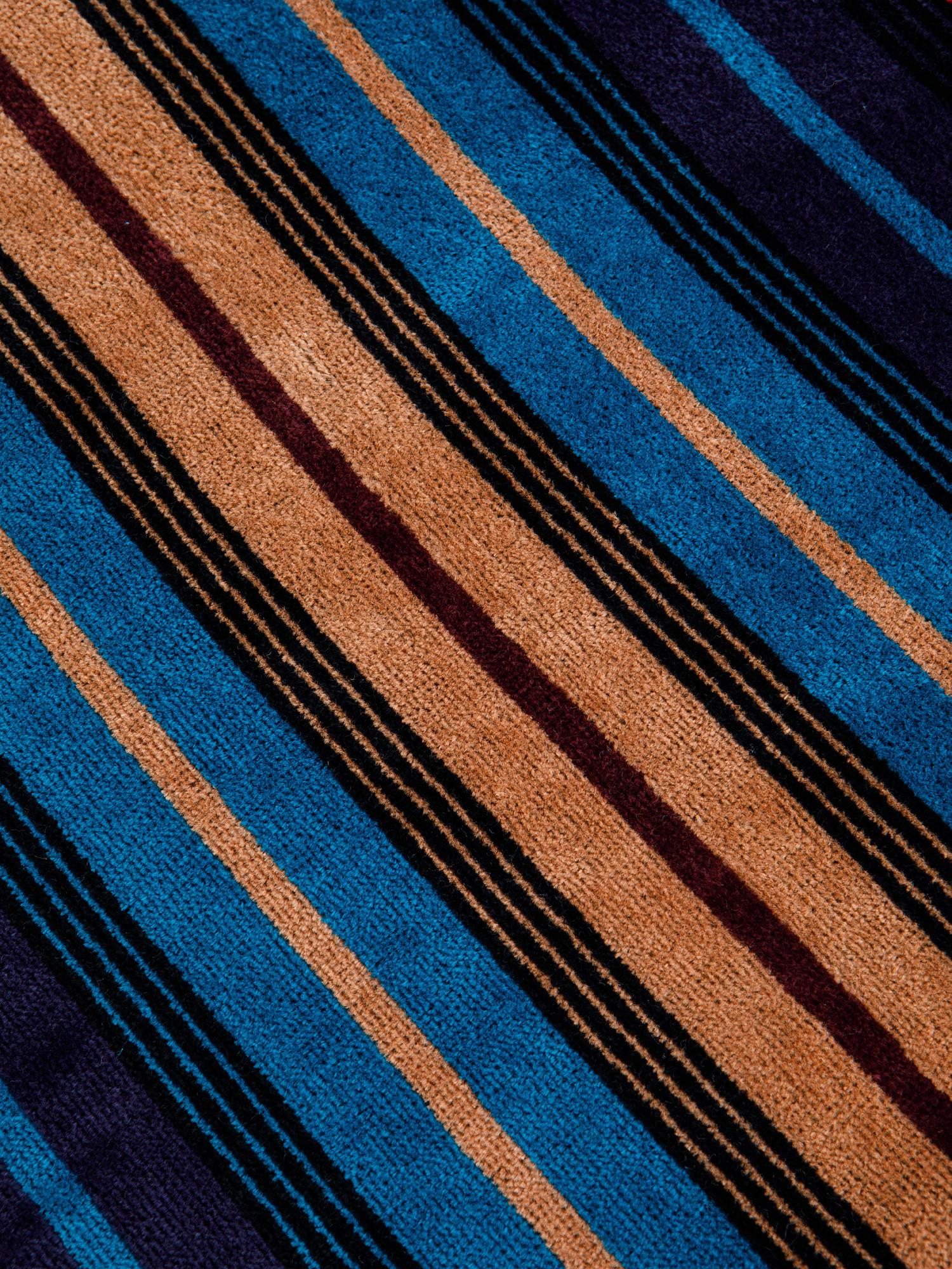 Asciugamano cotone velour motivo righe larghe, Multicolor, large image number 2