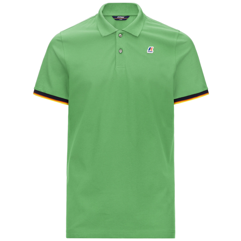 Polo in piquet di cotone stretch da uomo, Verde, large image number 0