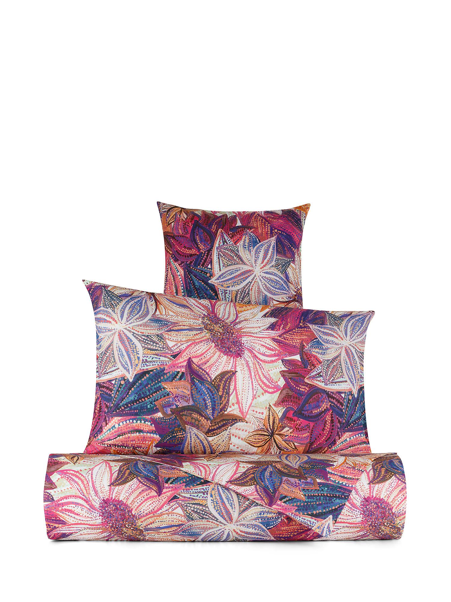 Copripiumino cotone percalle fantasia floreale, Multicolor, large image number 0