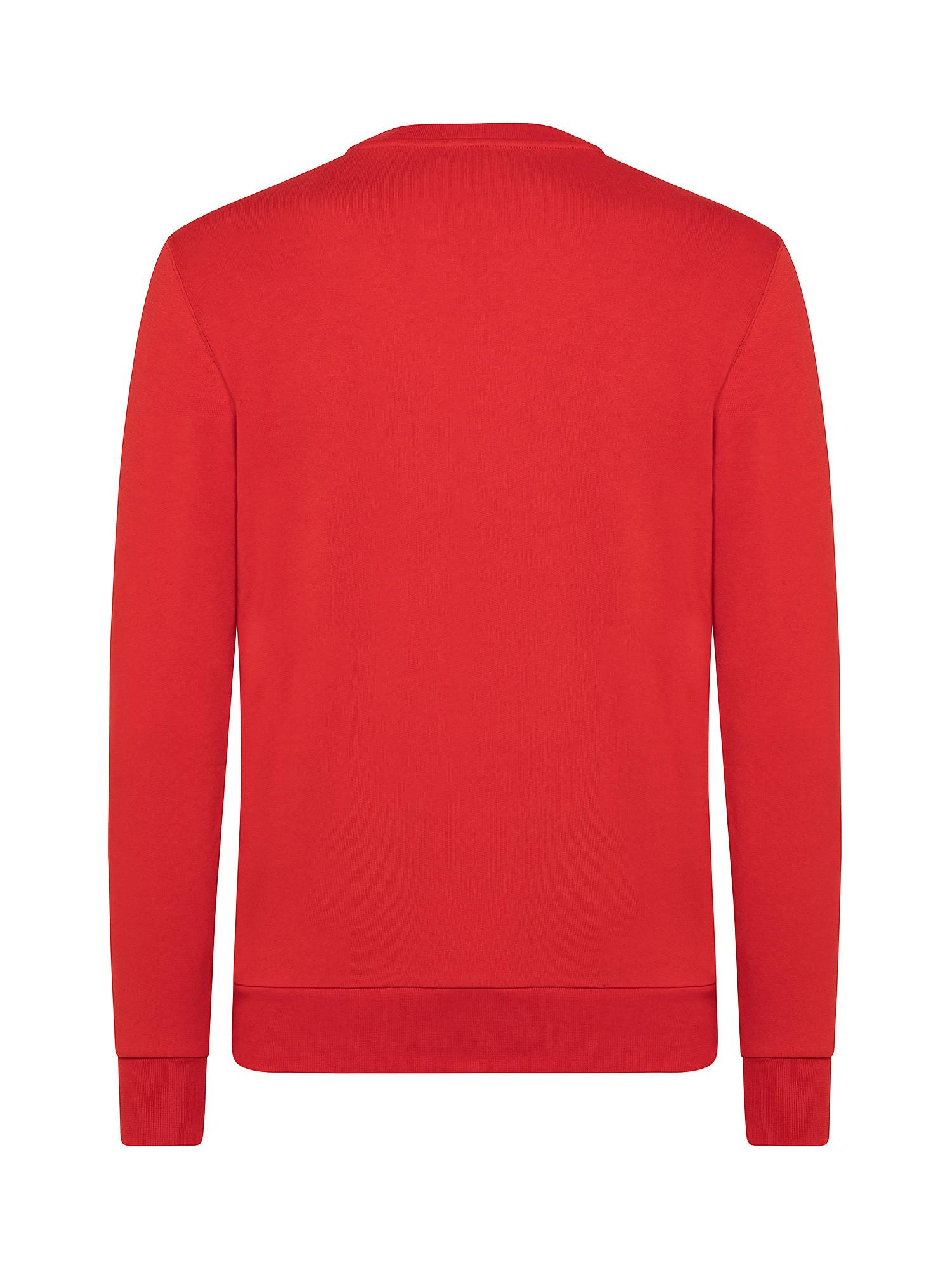 Felpa in cotone organico, Rosso, large image number 1