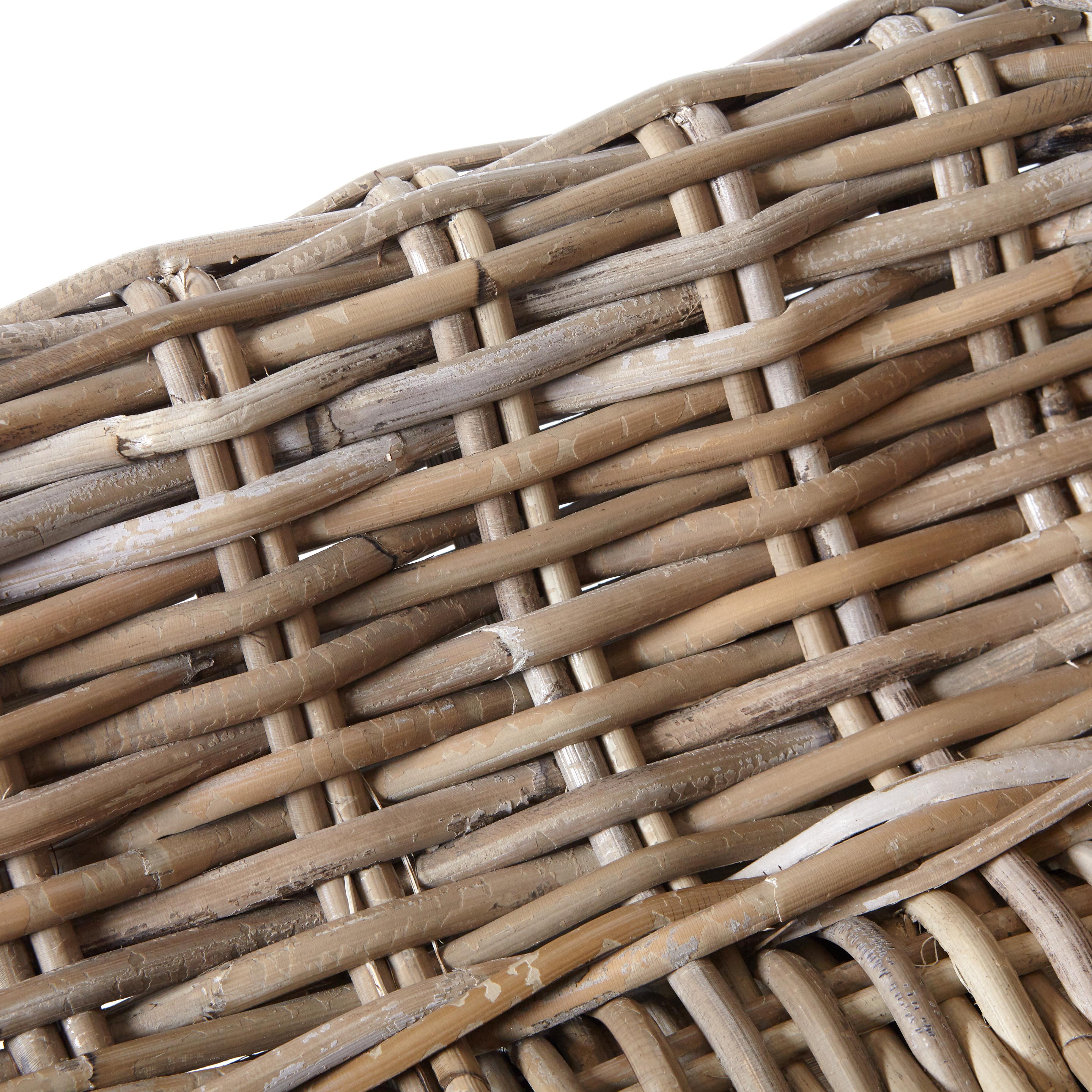 Poltrona rattan intrecciato a mano Tuamotu, Beige chiaro, large image number 1