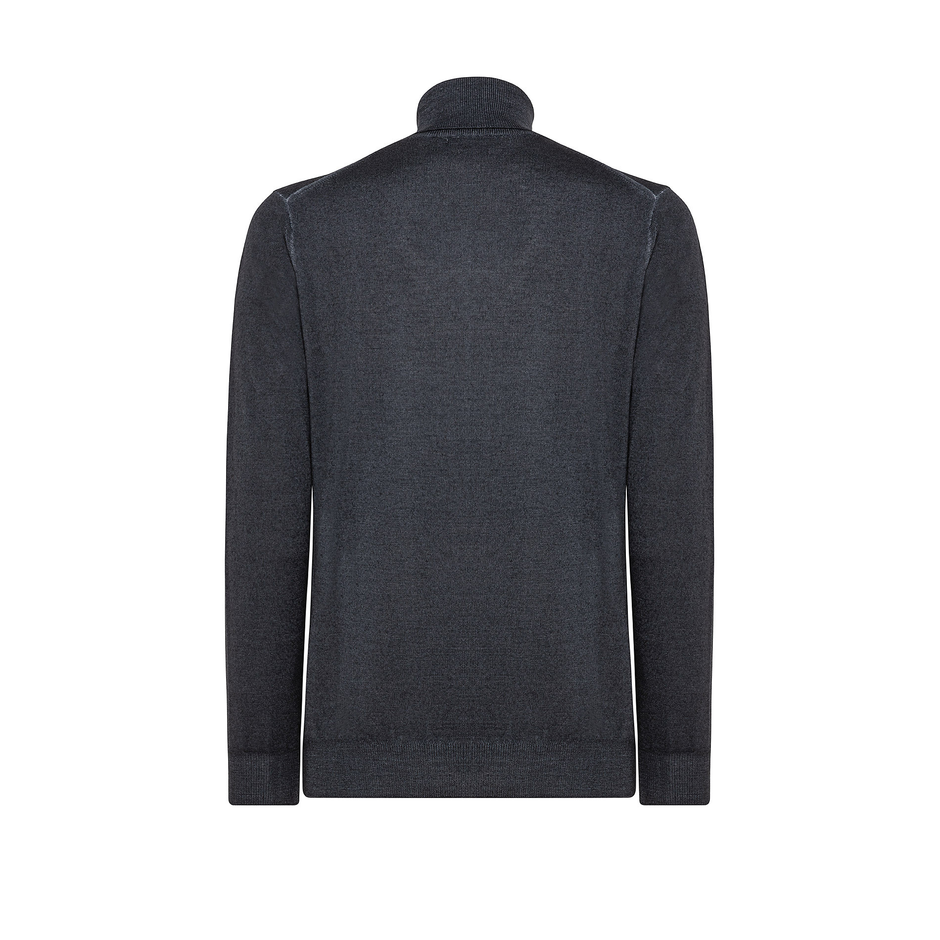 Pullover lana merinos collo alto, Grigio, large image number 1