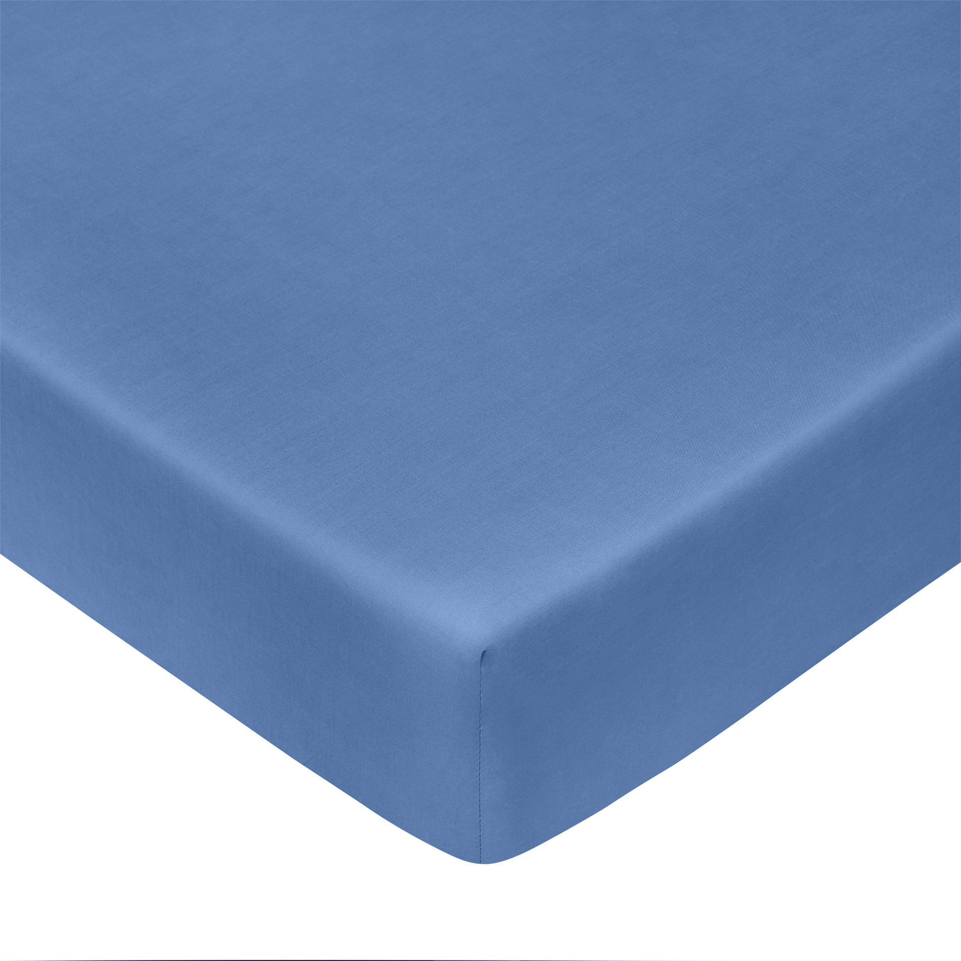 Lenzuolo con angoli in percalle tinta unita Zefiro, Azzurro celeste, large image number 0