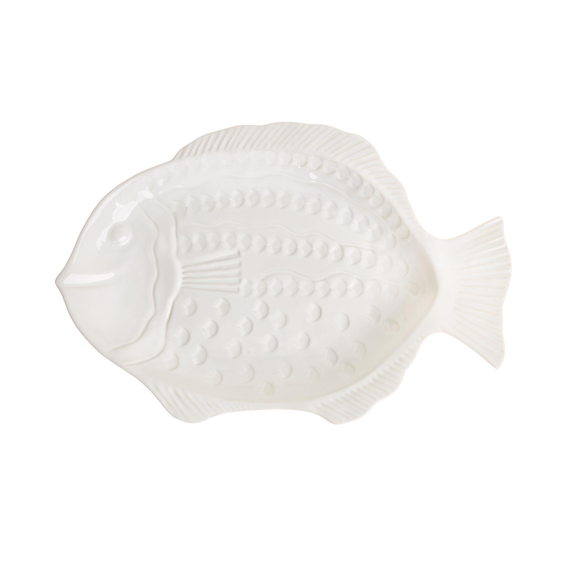 Coppa ceramica a pesce, Bianco, large image number 1
