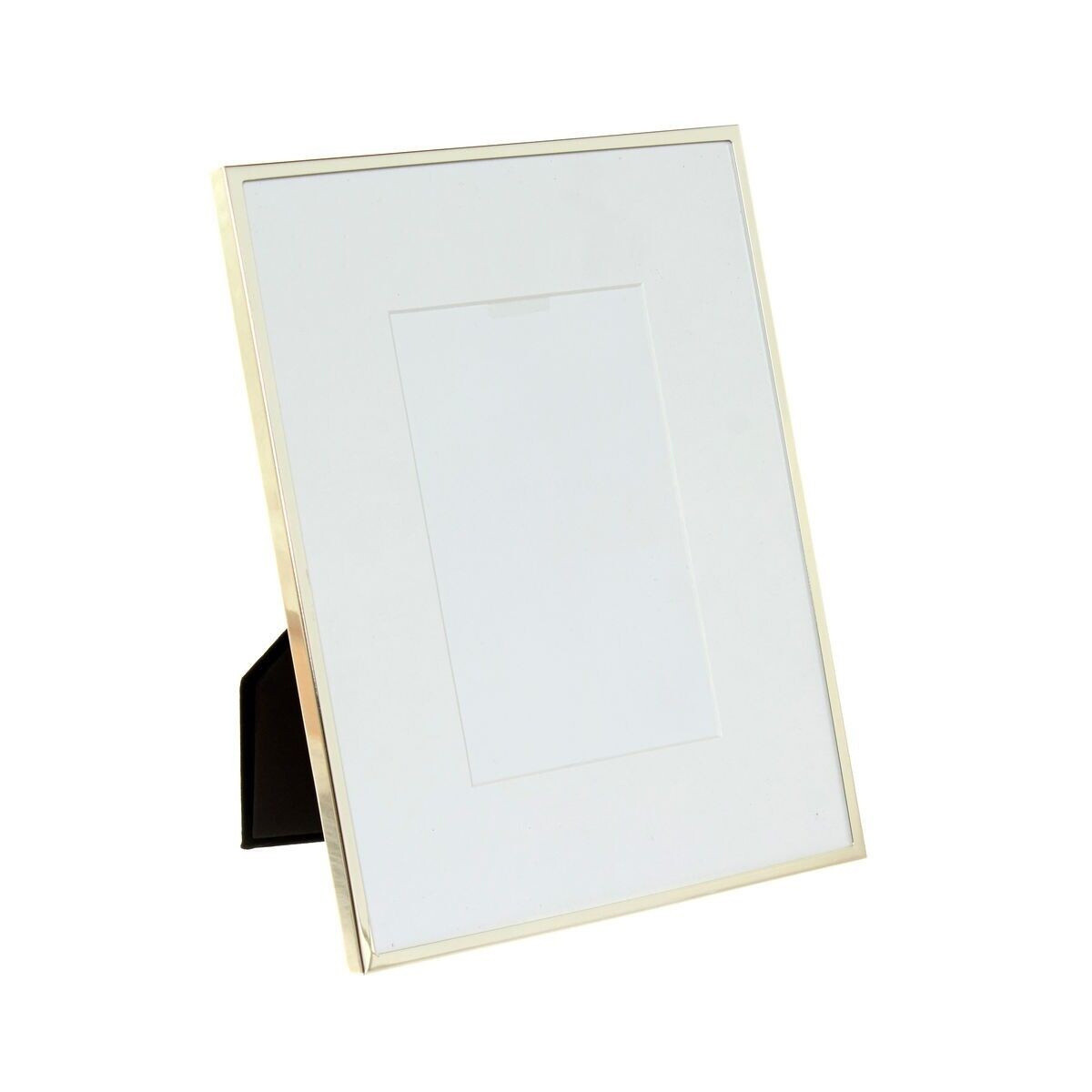 Portafoto silver plated con passepartout, Grigio argento, large image number 0