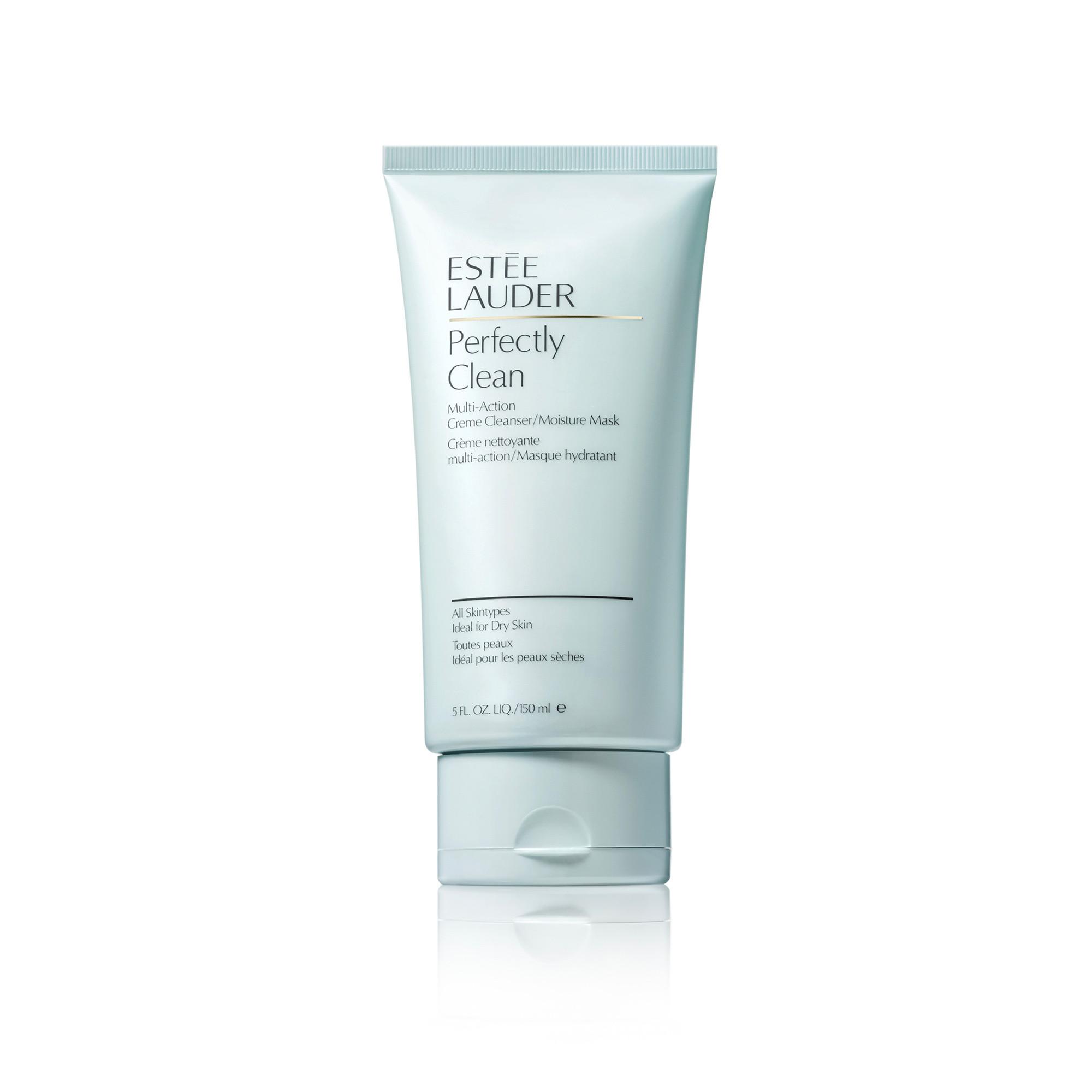 Estée Lauder perfectly clean multi-action creme cleanser/moisture mask 150 ml, Azzurro, large image number 0