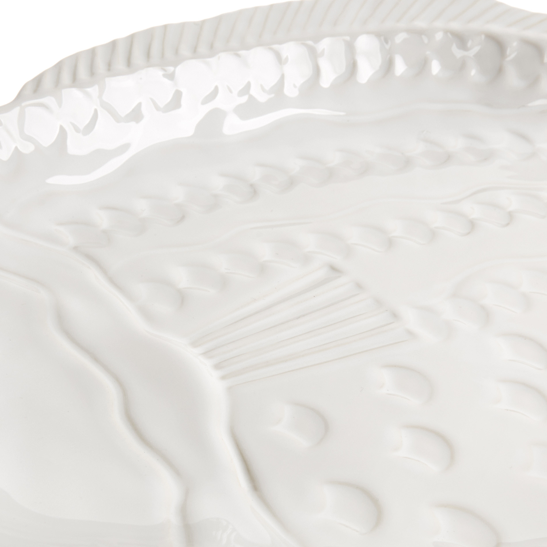 Coppa ceramica a pesce, Bianco, large image number 2
