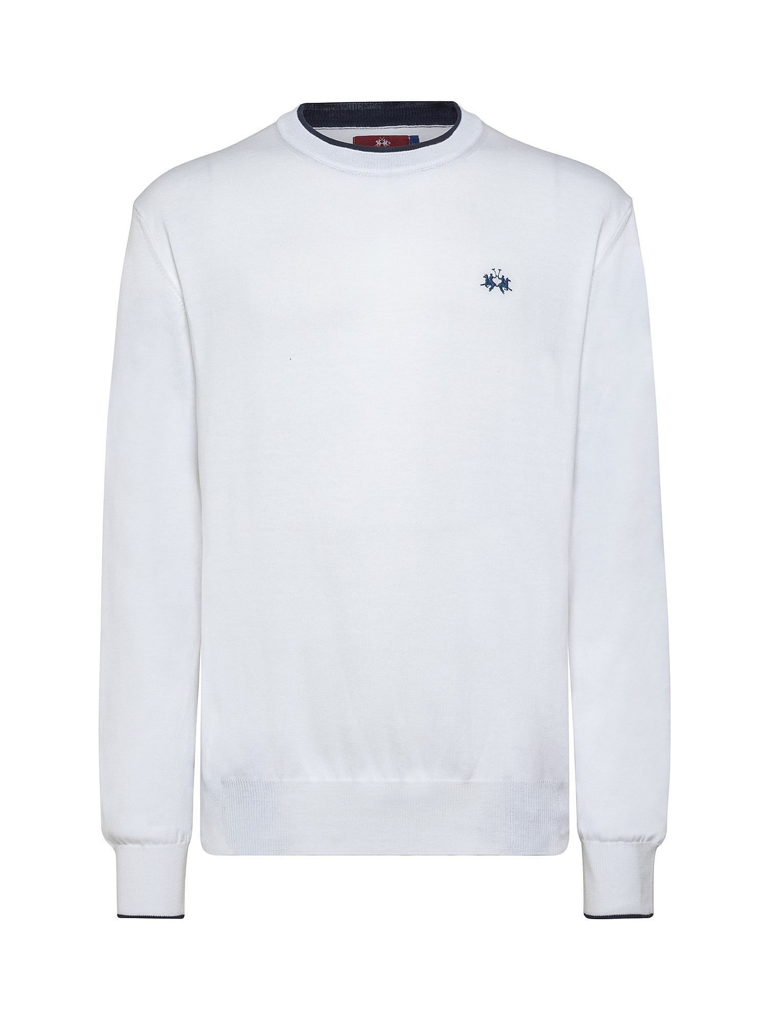 Felpa da uomo in cotone regular fit, Bianco, large image number 0