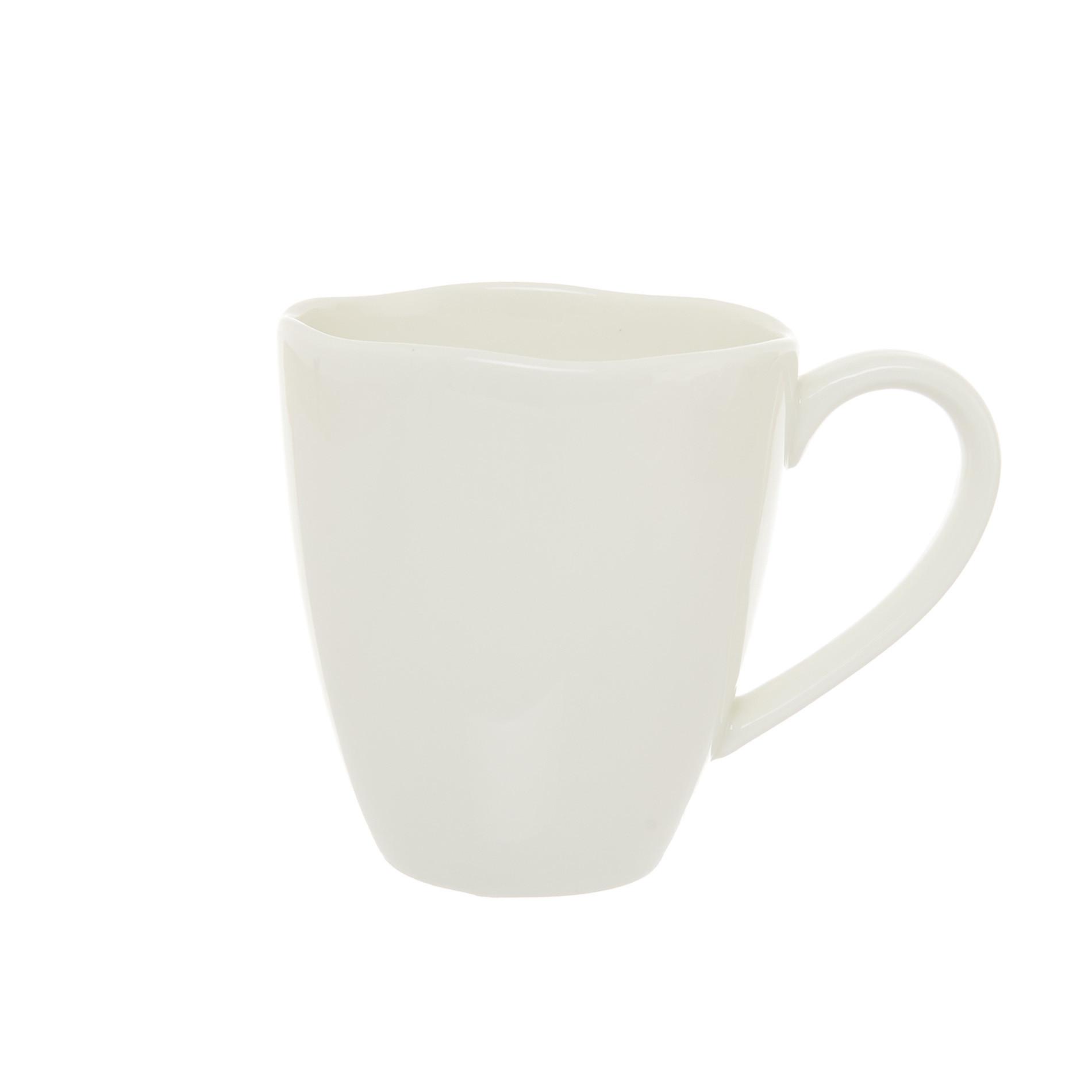 Mug new bone china tinta unita, Bianco, large image number 0