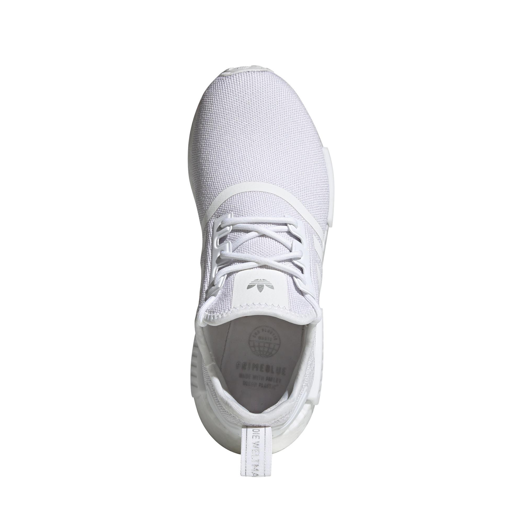 Scarpe donna Adidas Originals NMD_R1 Primeblue, Bianco/Grigio, large image number 6