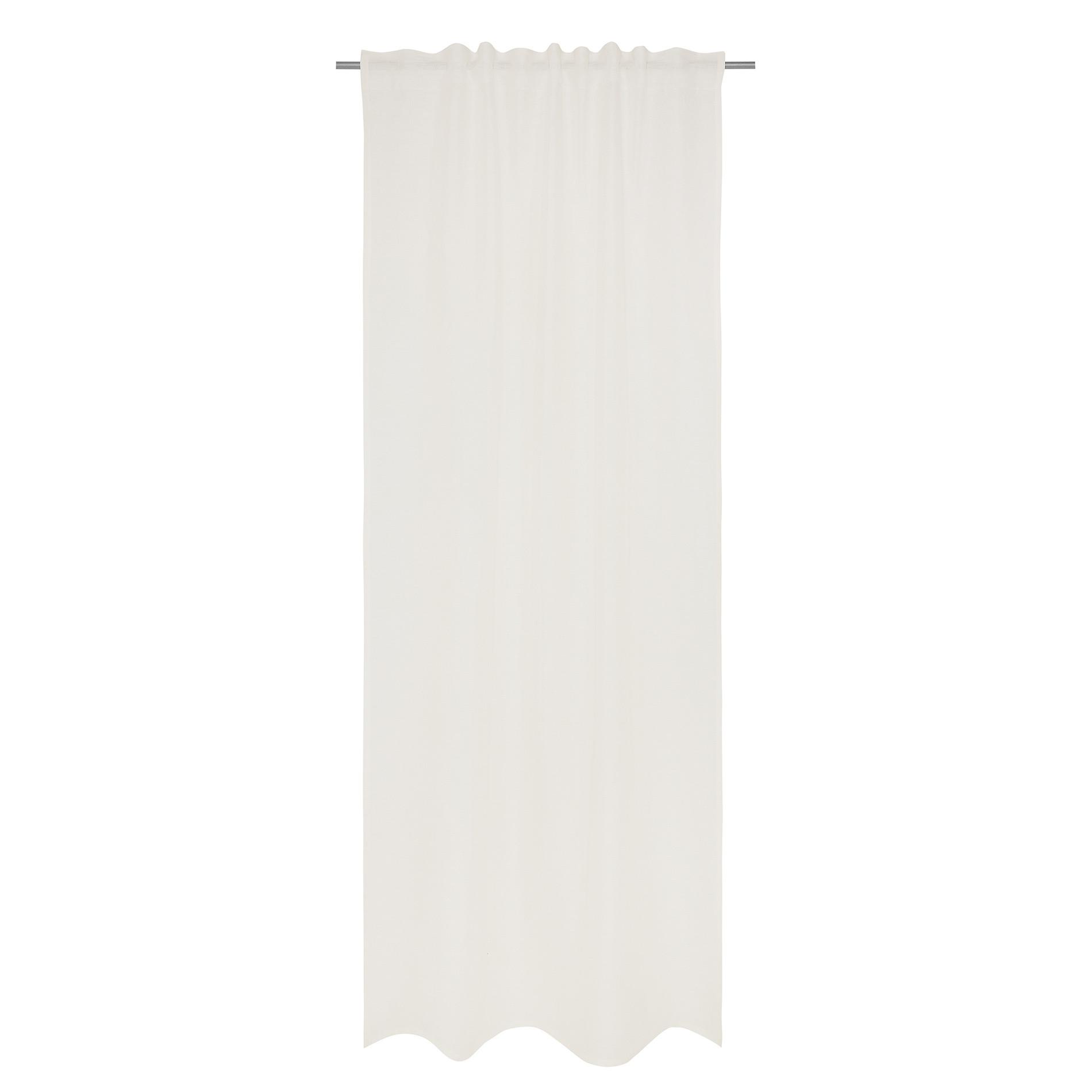 Tenda puro lino tinta unita, Bianco, large image number 1