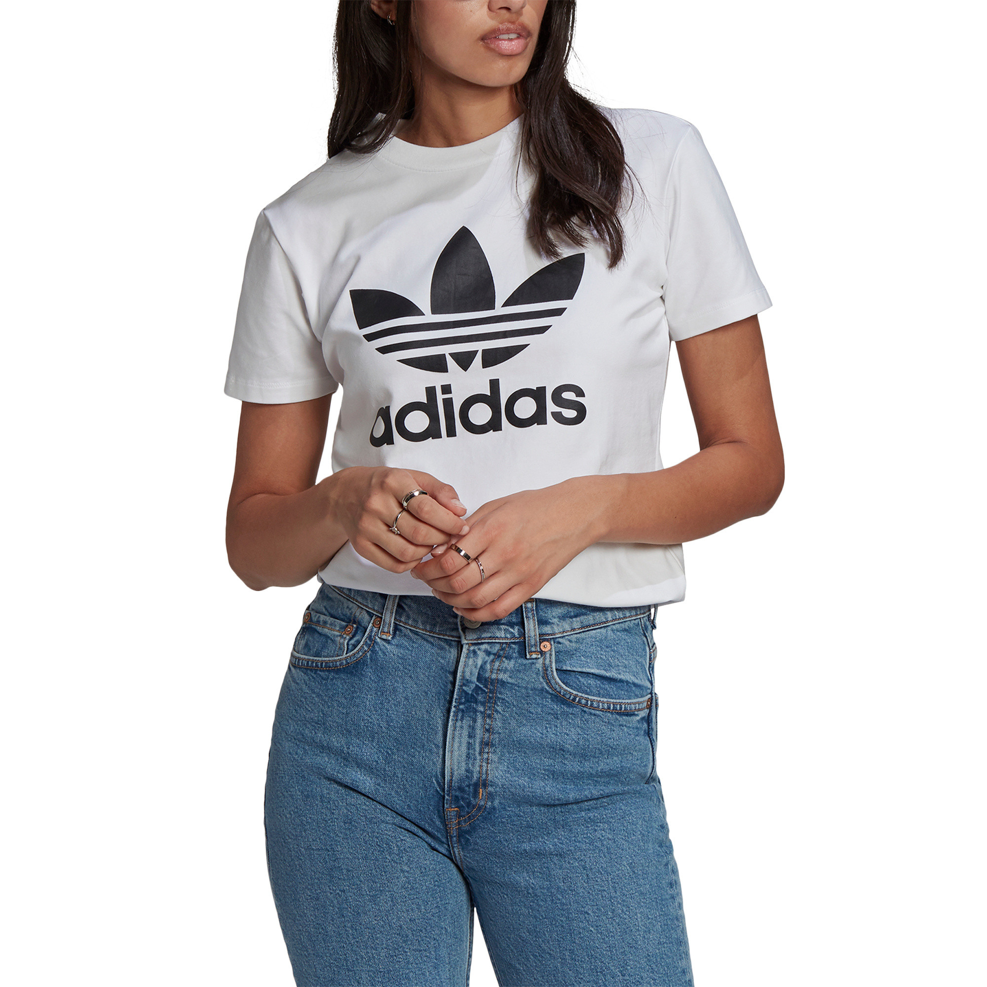 T-shirt adicolor Classics Trefoil, Bianco, large image number 3