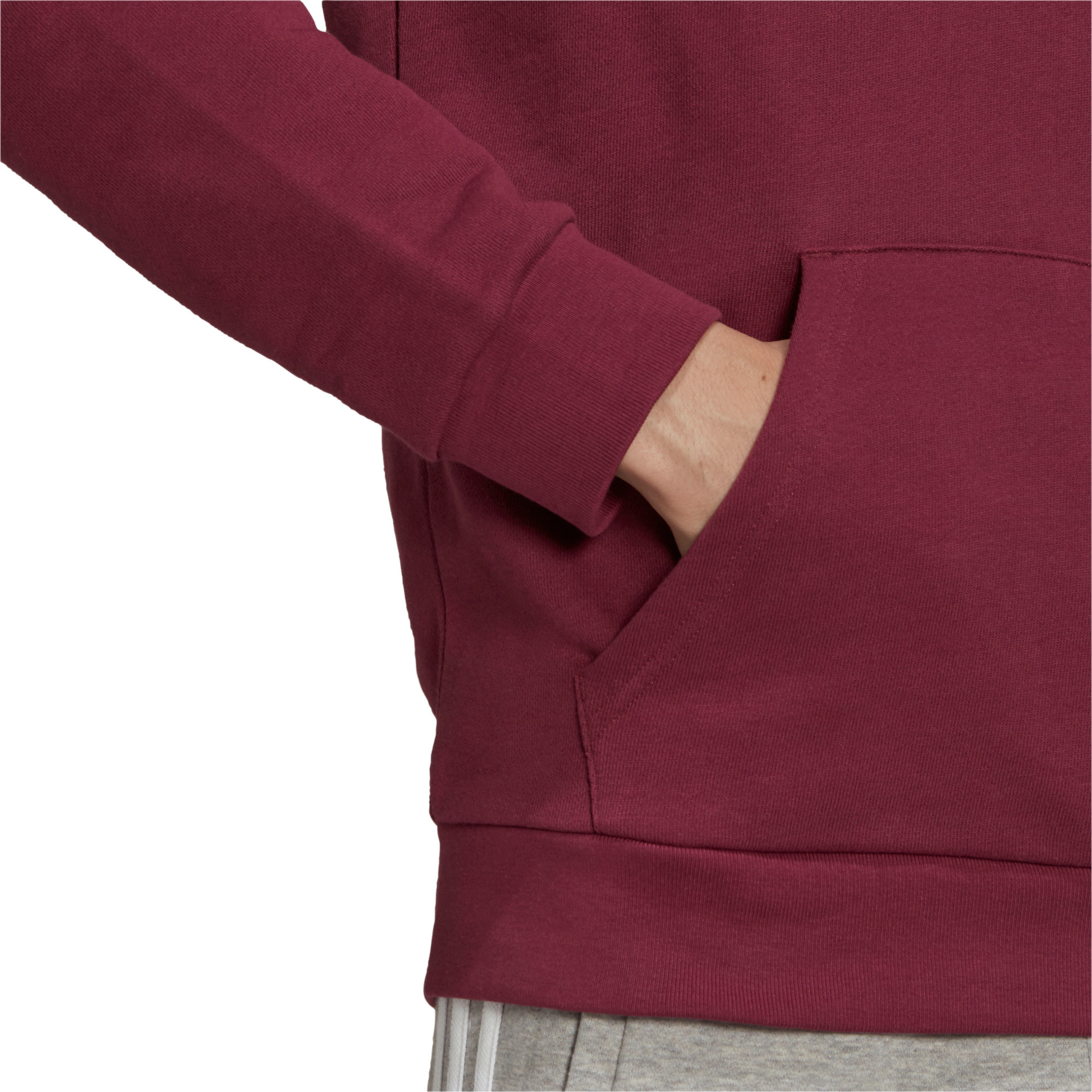 Felpa uomo con cappuccio adicolor Classics Trefoil, Bianco/Rosso, large image number 2