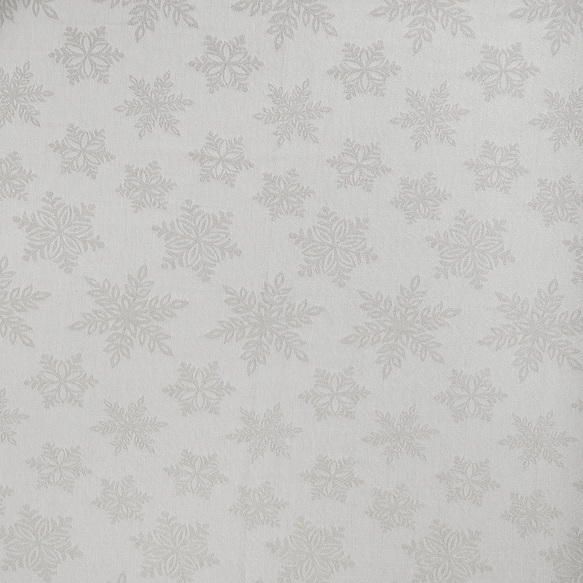 Tovaglia cotone e lurex stampa fiocchi di neve, Bianco, large image number 1