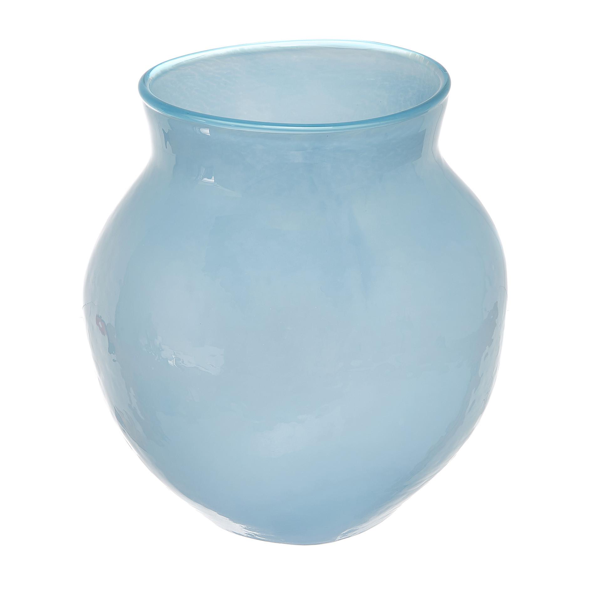 Vaso vetro colorato in pasta, Azzurro, large image number 0