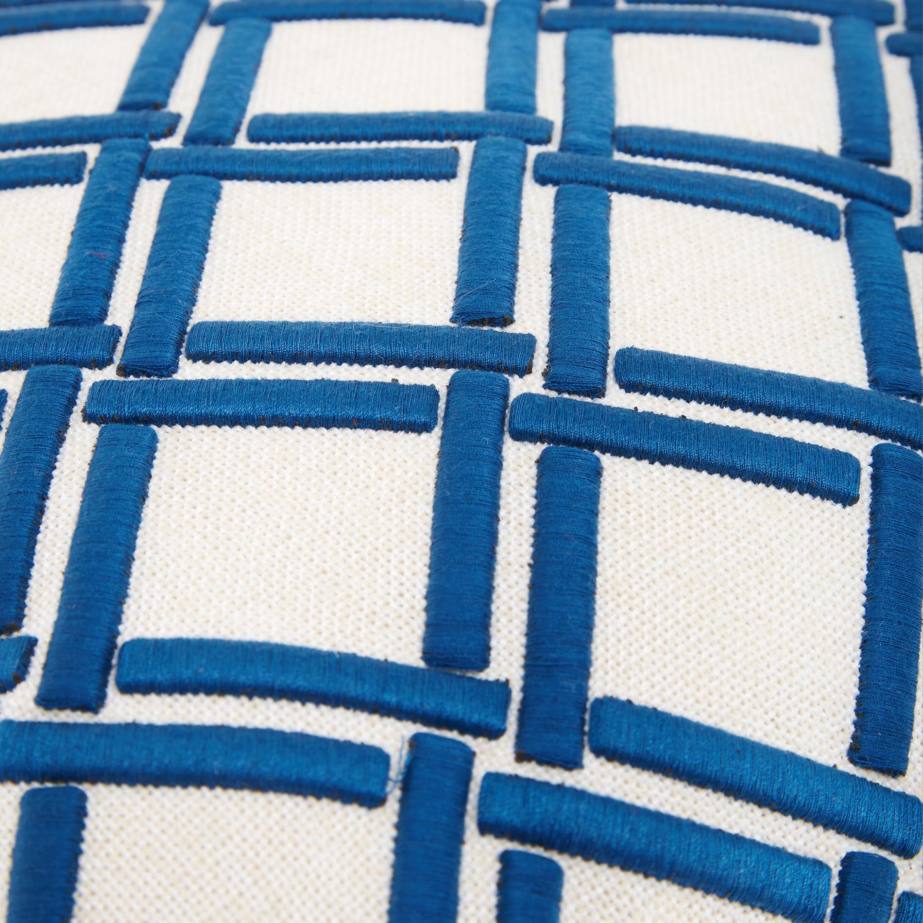 Cuscino intreccio applicato 45x45cm, Blu, large image number 2