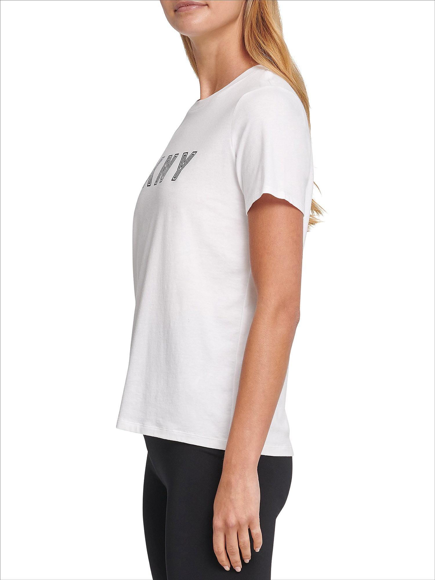 T-shirt track logo a maniche corte, Bianco, large image number 3