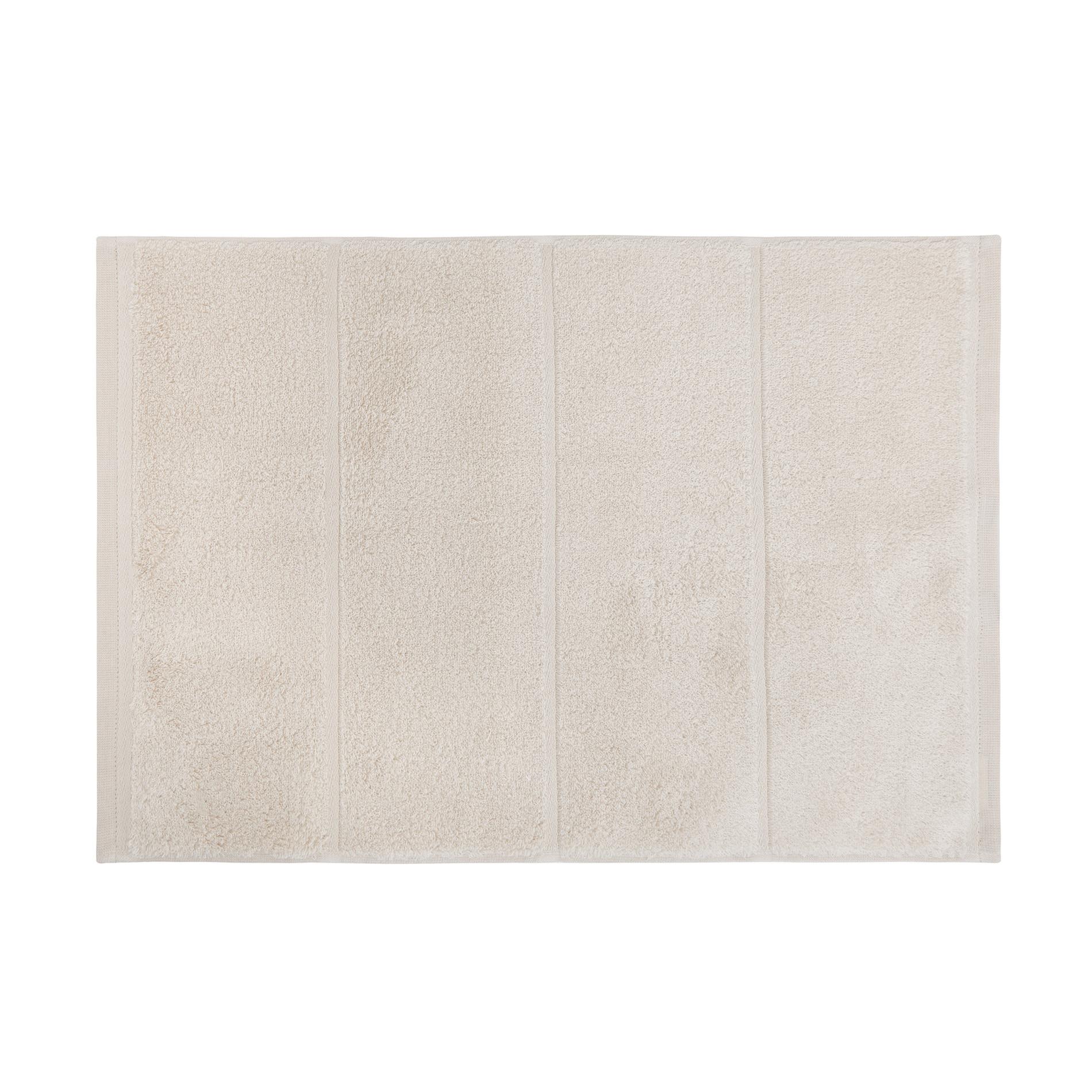 Set asciugamani spugna di cotone tinta unita, Beige, large image number 2