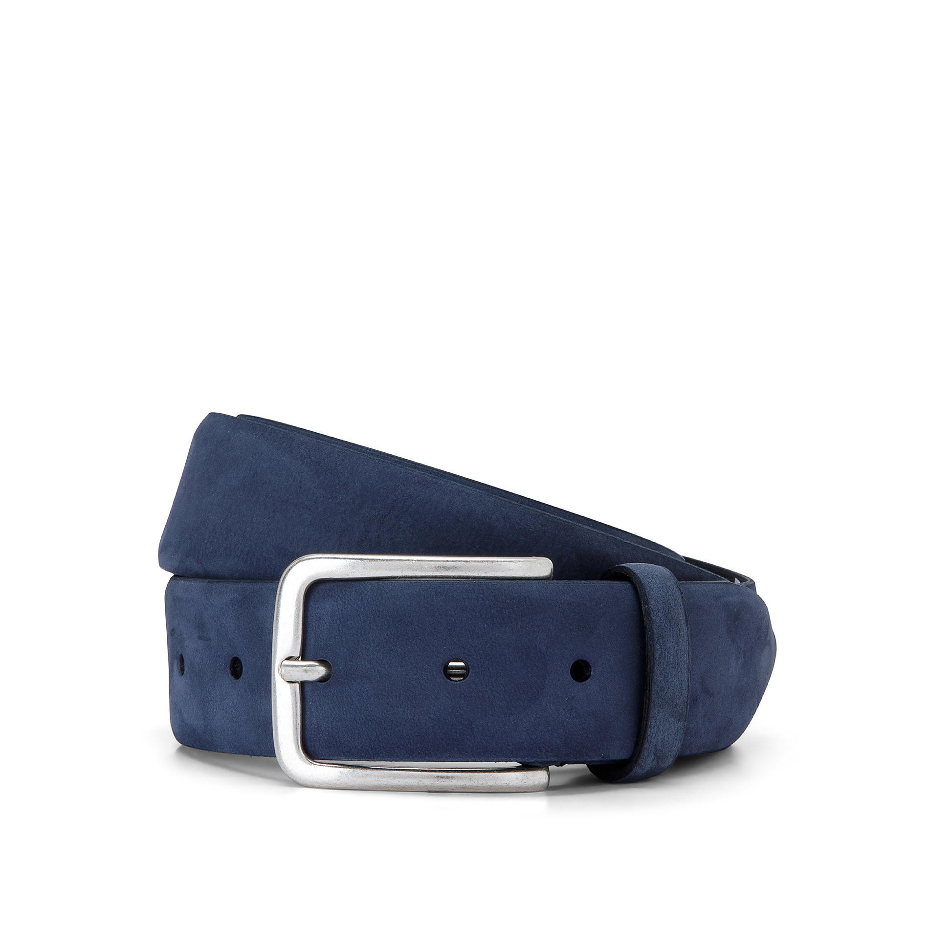 Cintura vera pelle Luca D'Altieri, Blu scuro, large image number 0