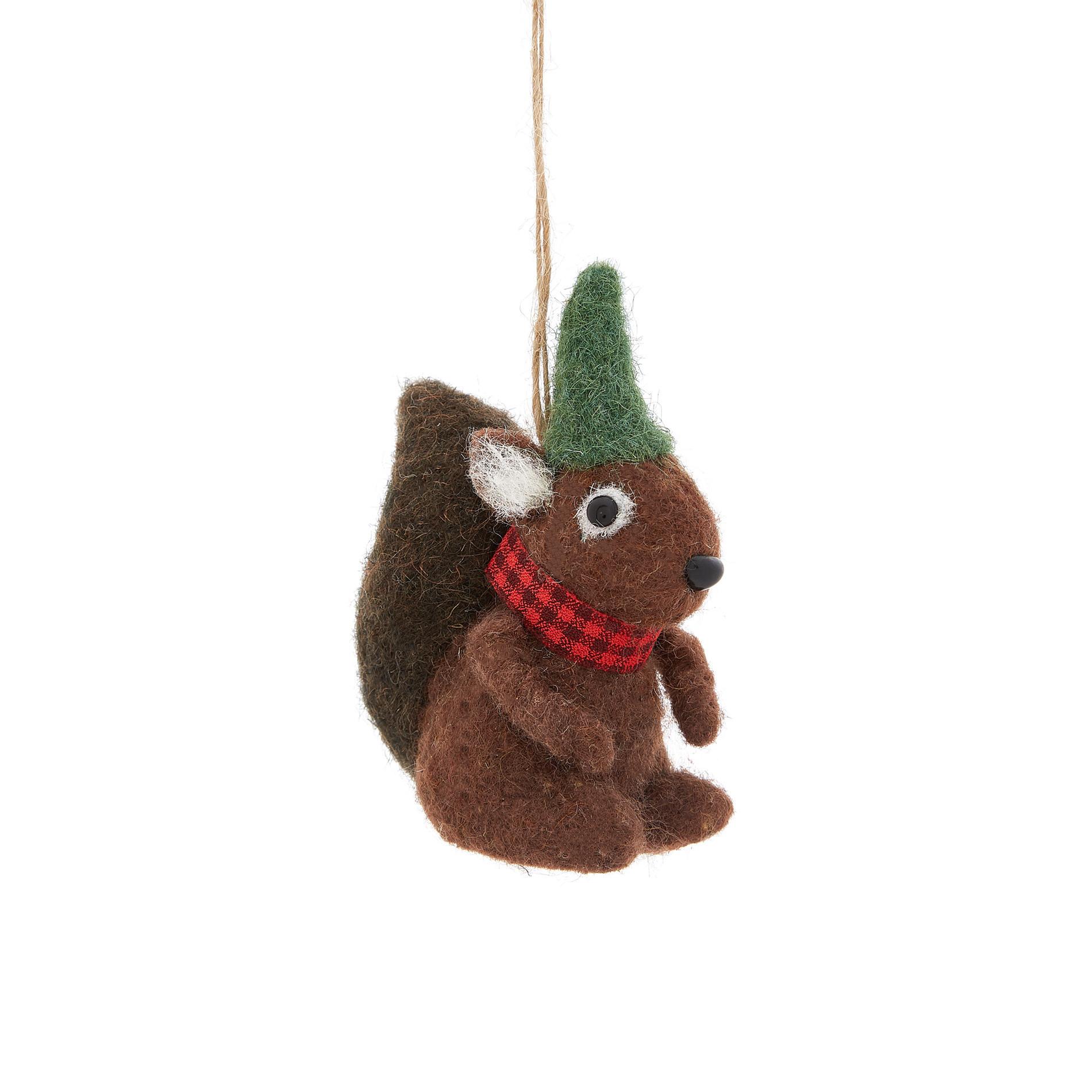 Pupazzo decorativo a scoiattolo, Marrone, large image number 0