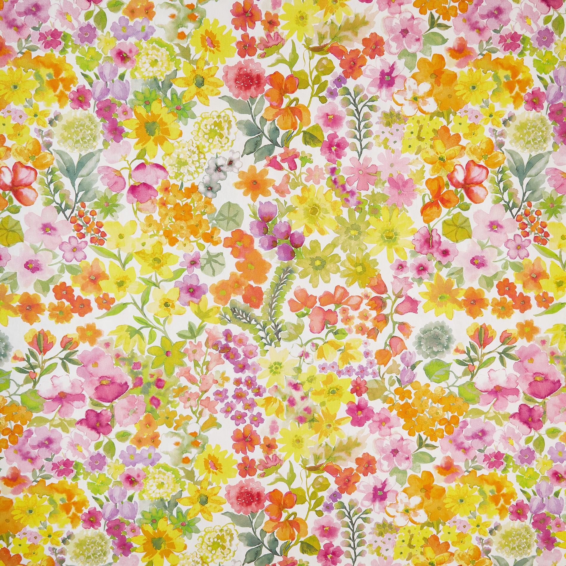 Telo arredo cotone motivo floreale, Multicolor, large image number 1