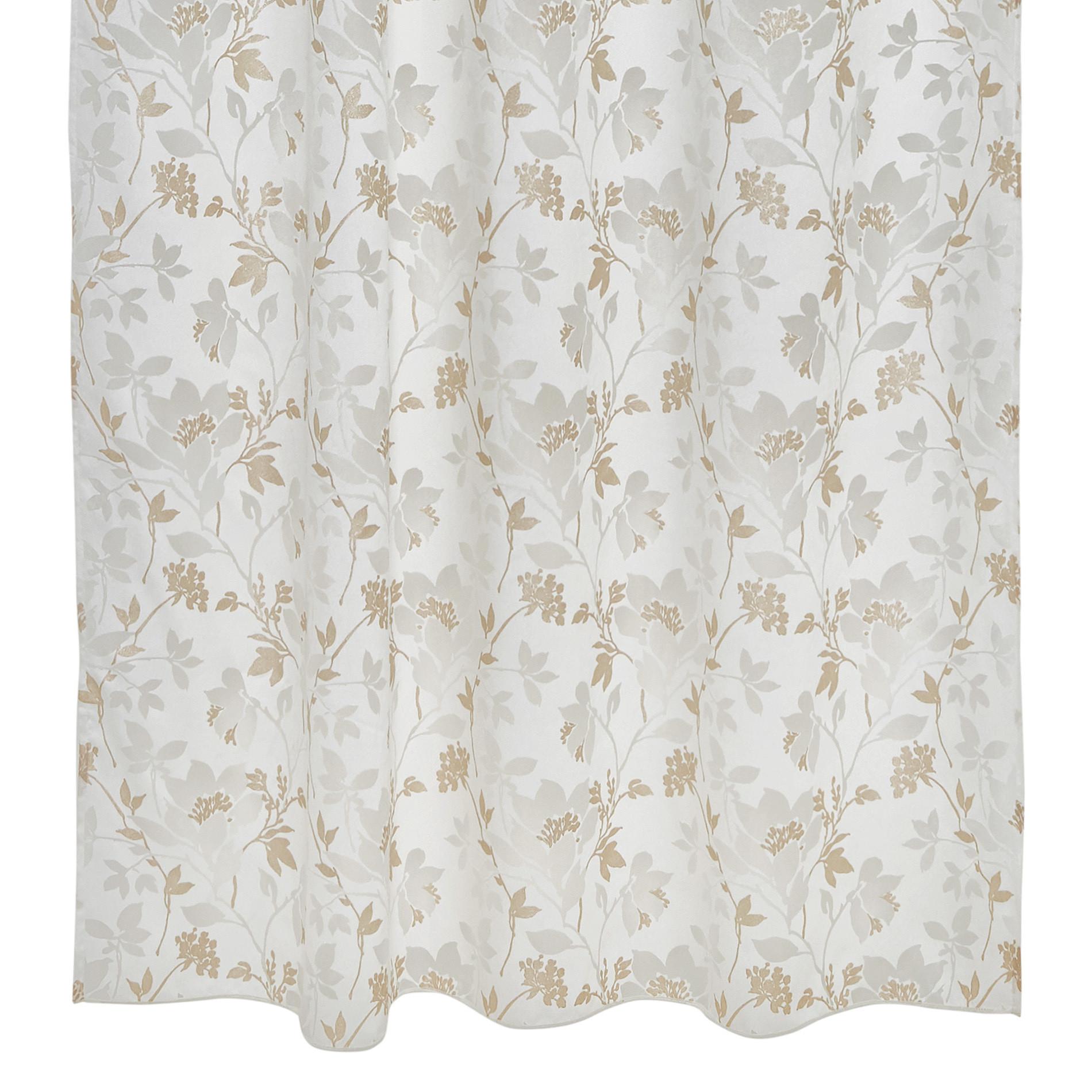 Tenda misto viscosa devore passanti nascosti, Bianco, large image number 1