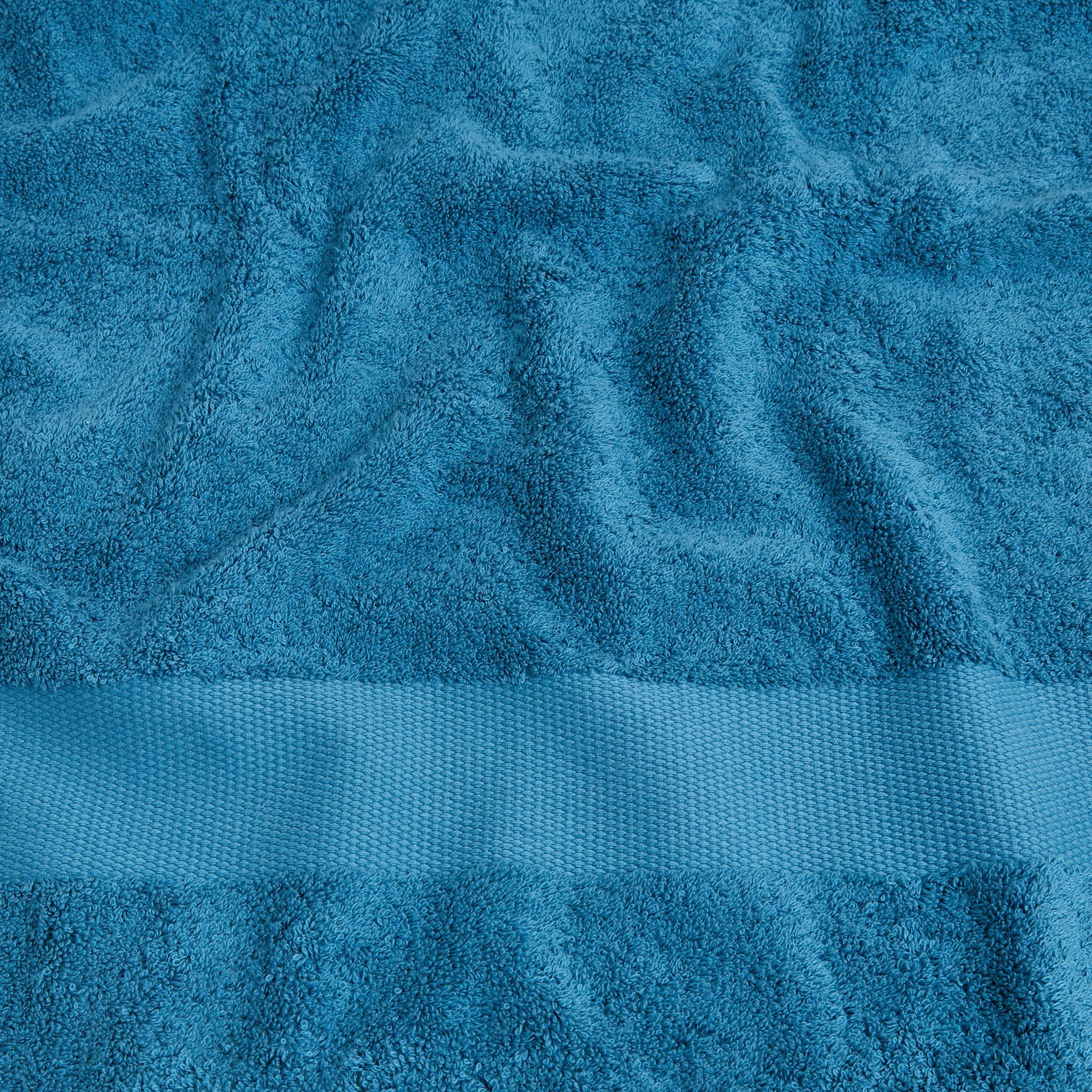 Asciugamano spugna di puro cotone Zefiro, Petrolio, large image number 3