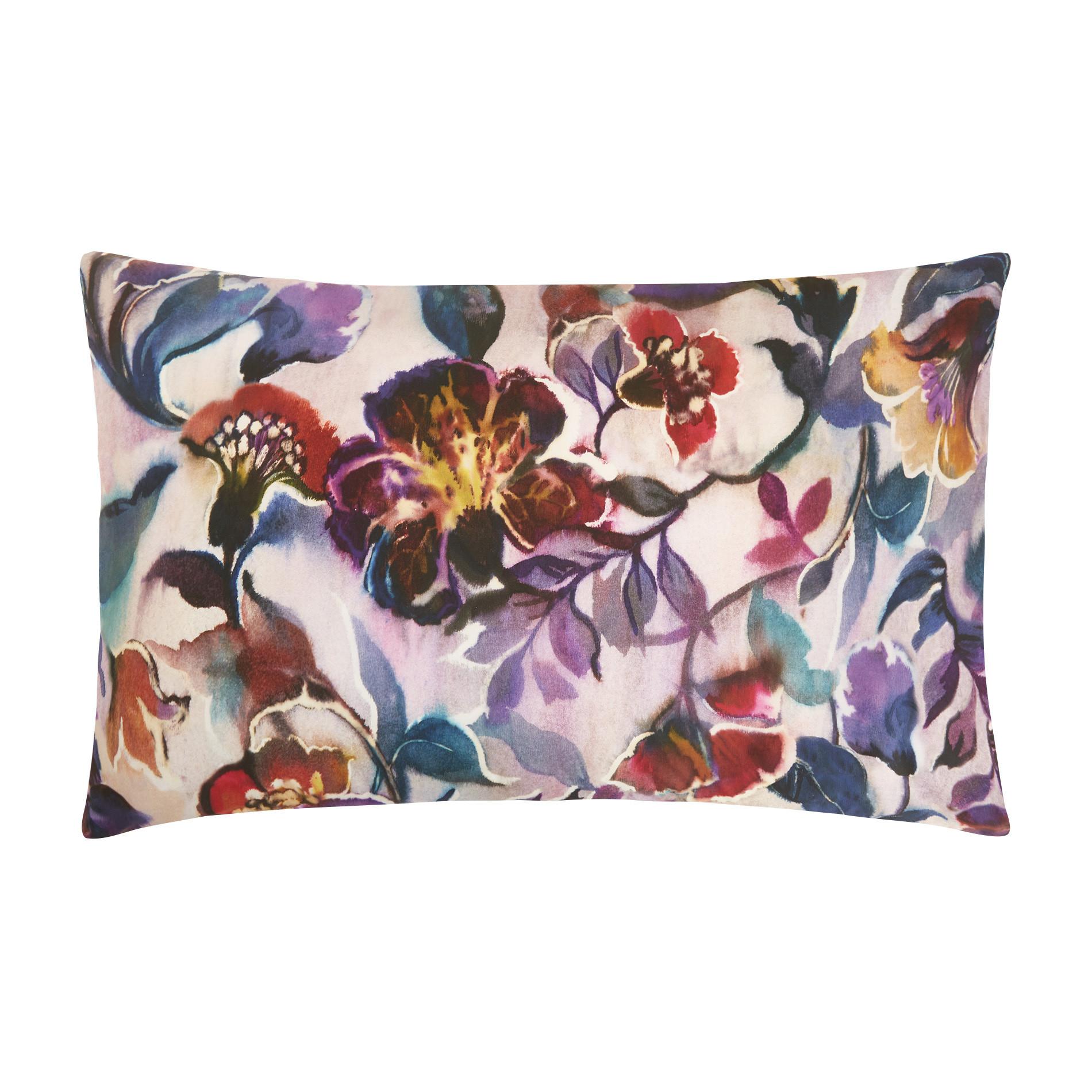 Federa cotone percalle fantasia floreale, Rosa chiaro, large image number 0