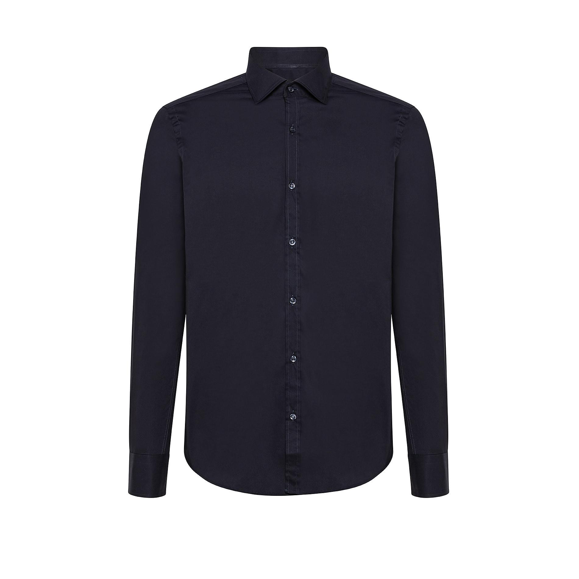 Camicia button-down popeline di cotone, Blu scuro, large image number 0
