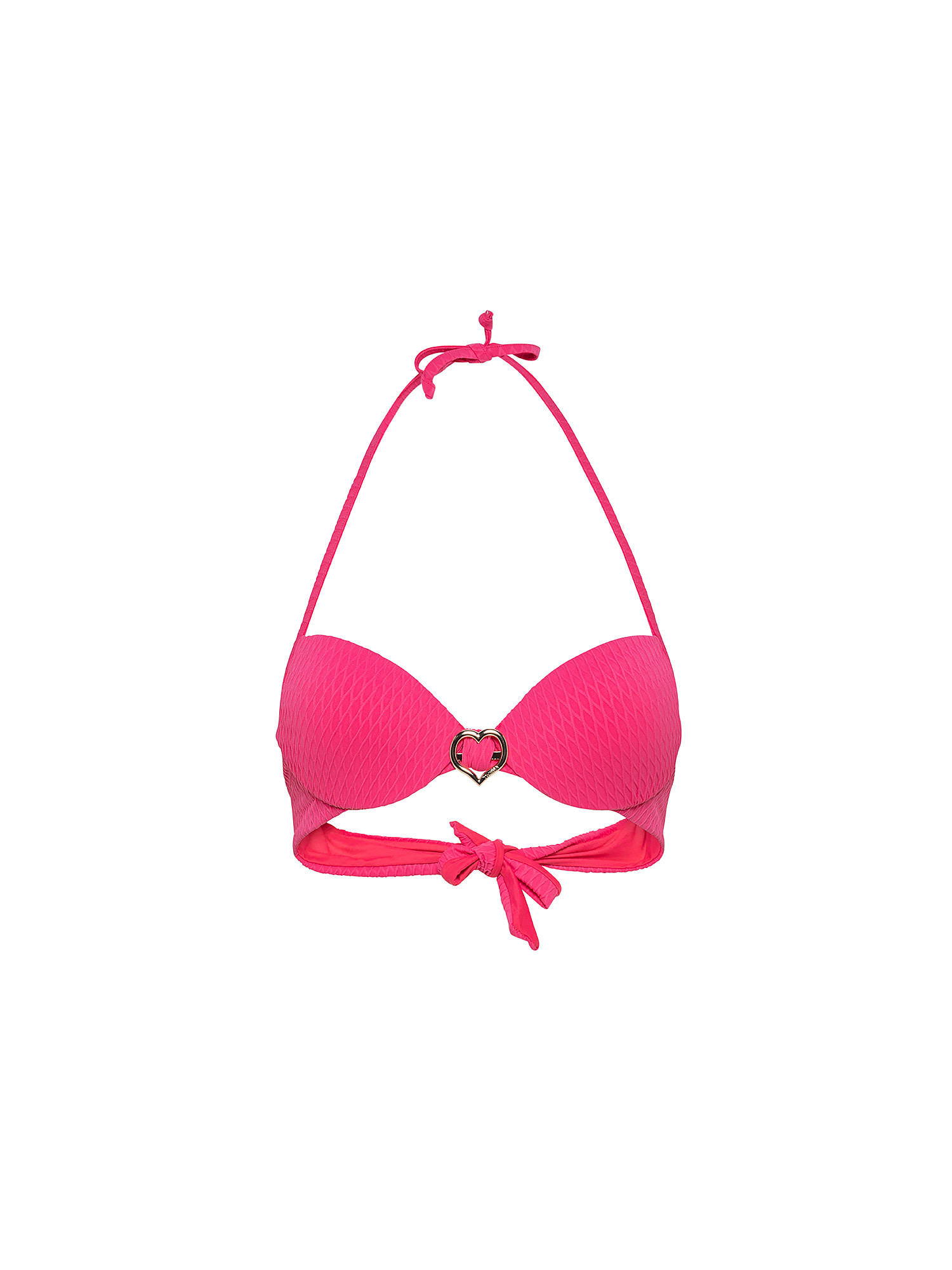 Top bikini con push-up, Nero, large image number 0