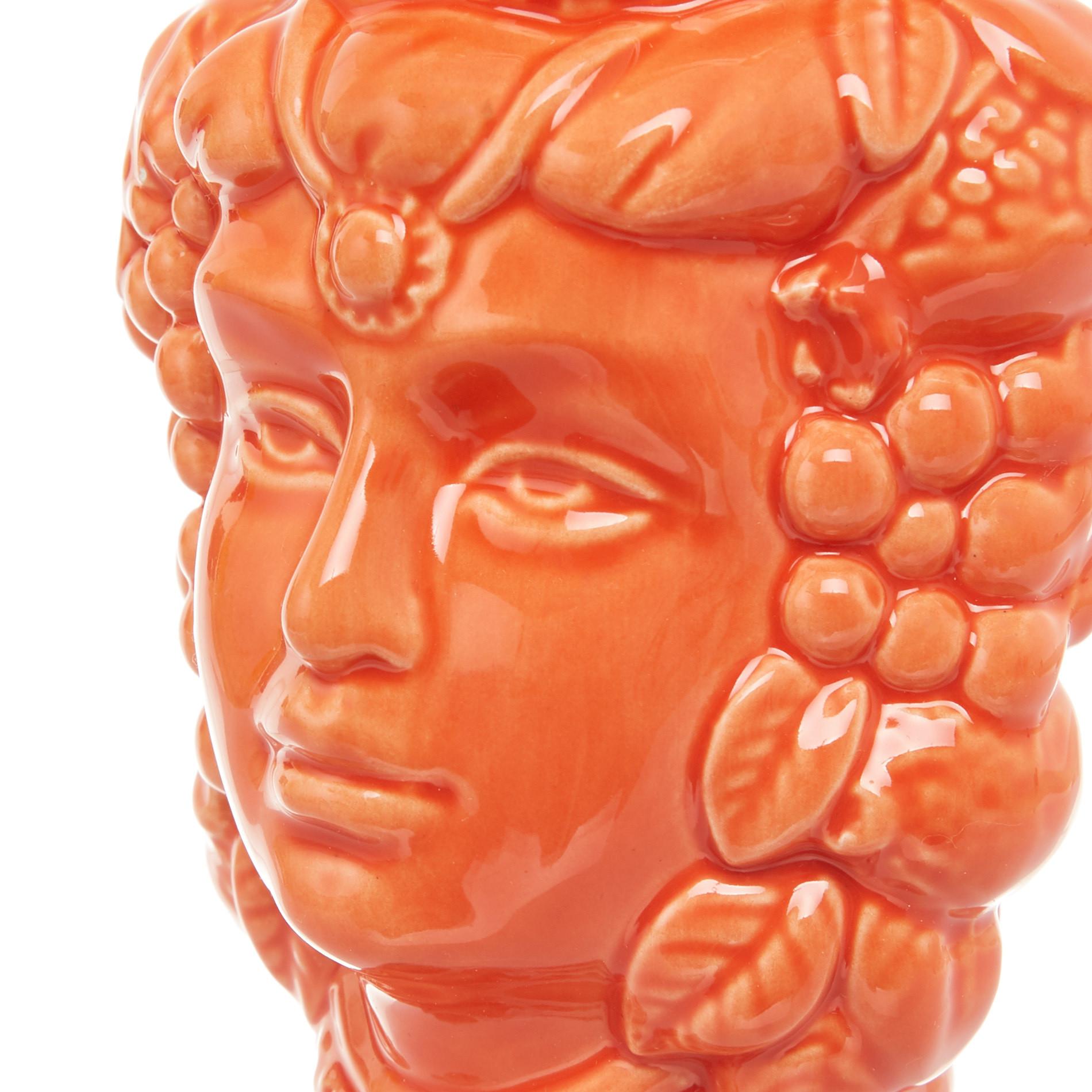 Testa di moro by Ceramiche Siciliane Ruggeri, Arancione, large image number 3