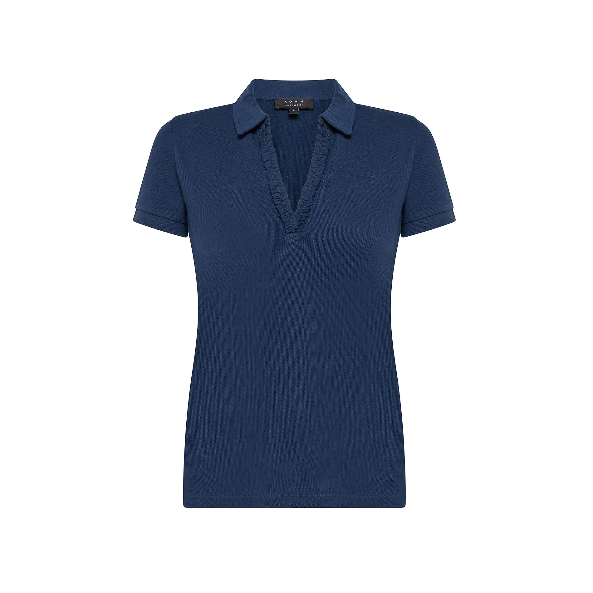 Polo cotone tinta unita, Blu, large image number 0