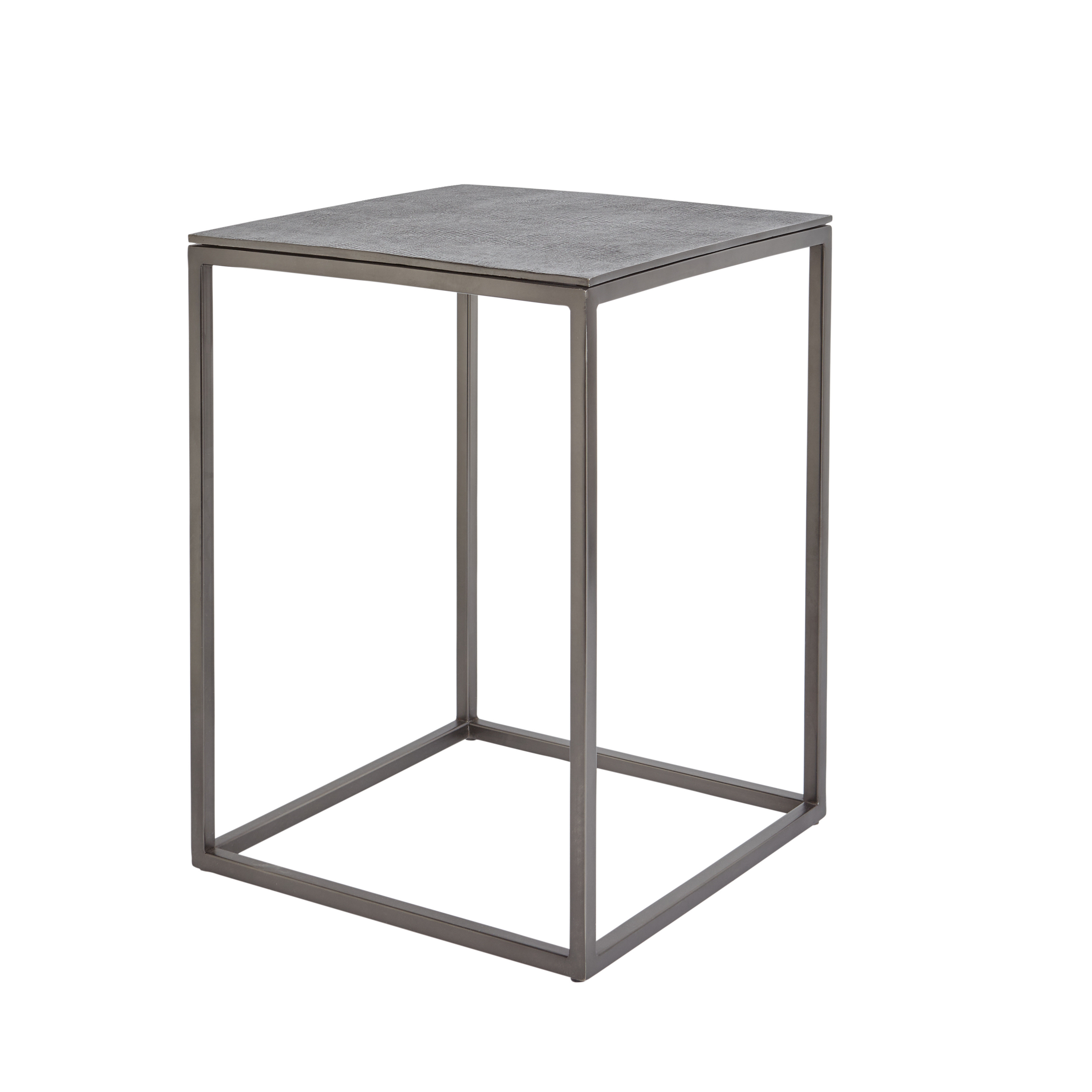 Coffee table in metallo cromato Snake, Grigio scuro, large image number 0