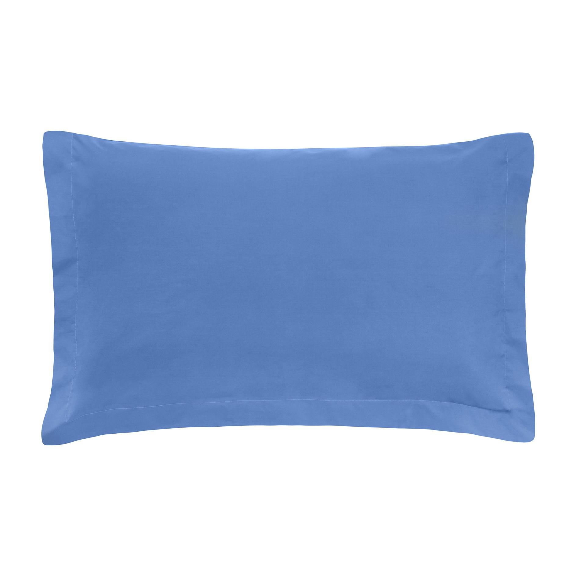 Federa in percalle tinta unita Zefiro, Azzurro celeste, large image number 0