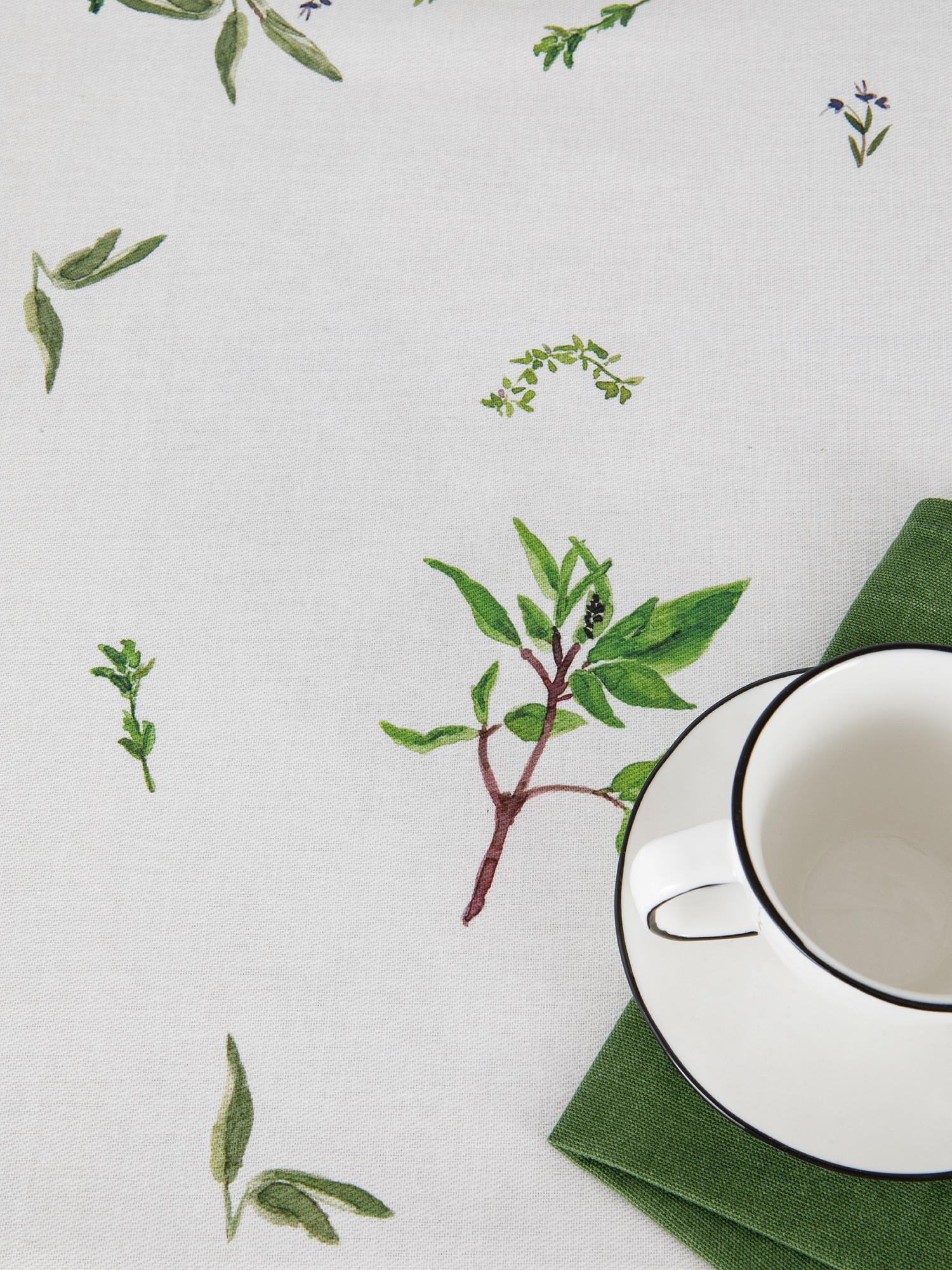 Tovaglia cotone idrorepellente stampa garden, Verde, large image number 2