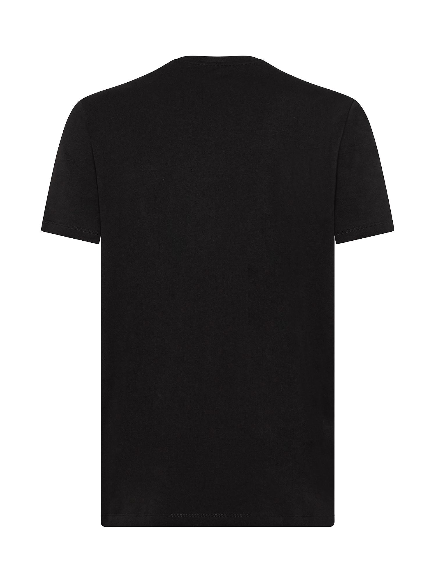 T-Shirt stretch, Nero, large image number 1