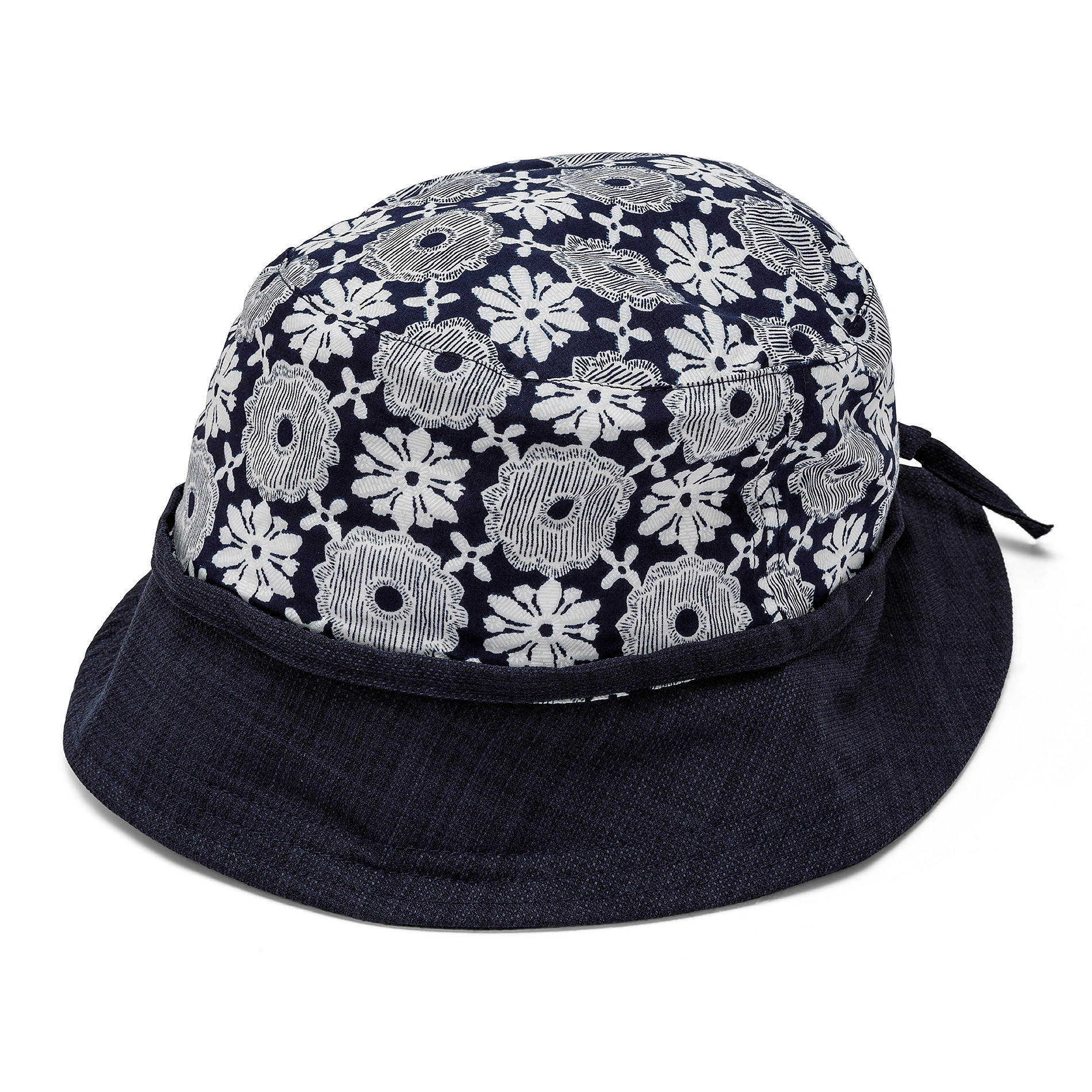 Cappello a cloche con stampa Koan, Blu scuro, large image number 0